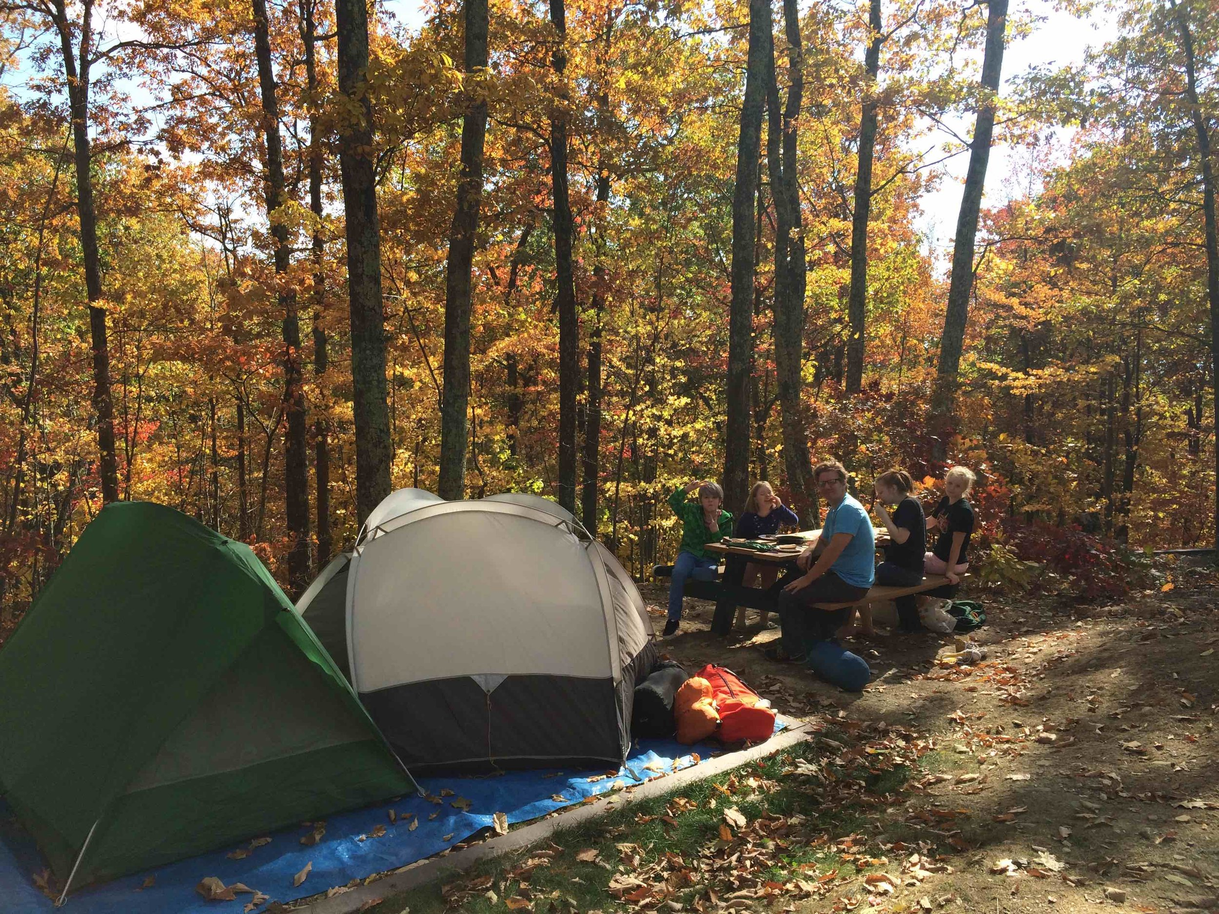 Forming the family camping habit fall 2016