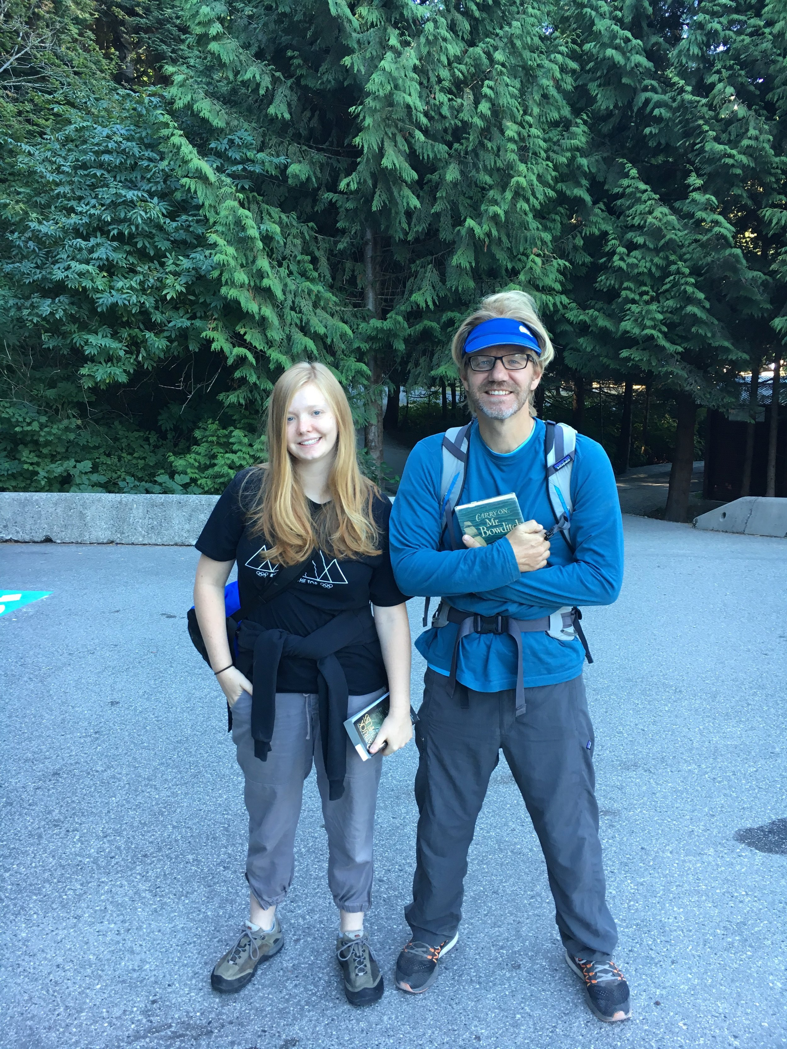 Always ready to wait for a good climb. They are on Skywalker in Shannon Falls right now. I'm sure pictures will come.