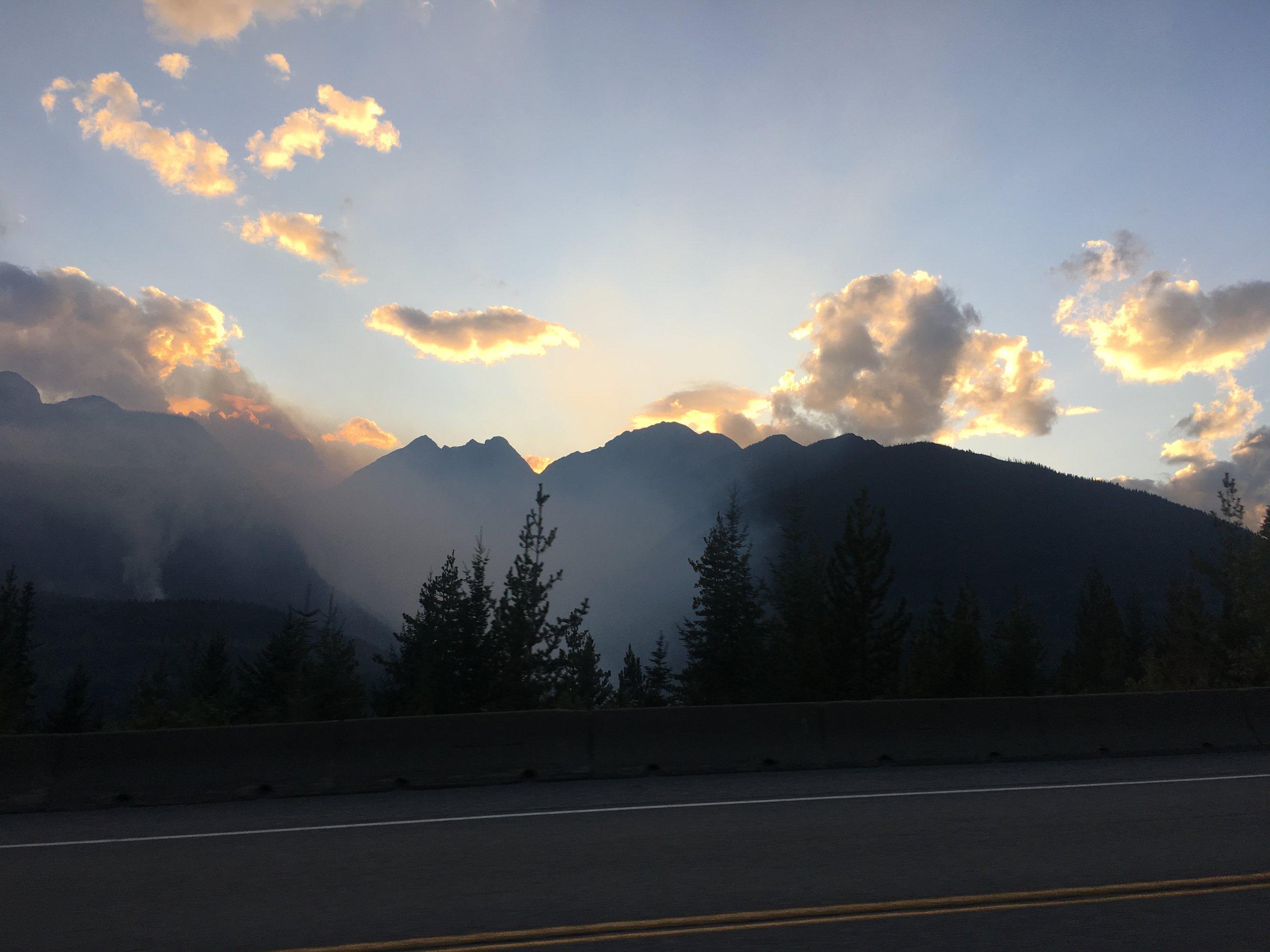 Wildfires in Glacier National Park (British Columbia)