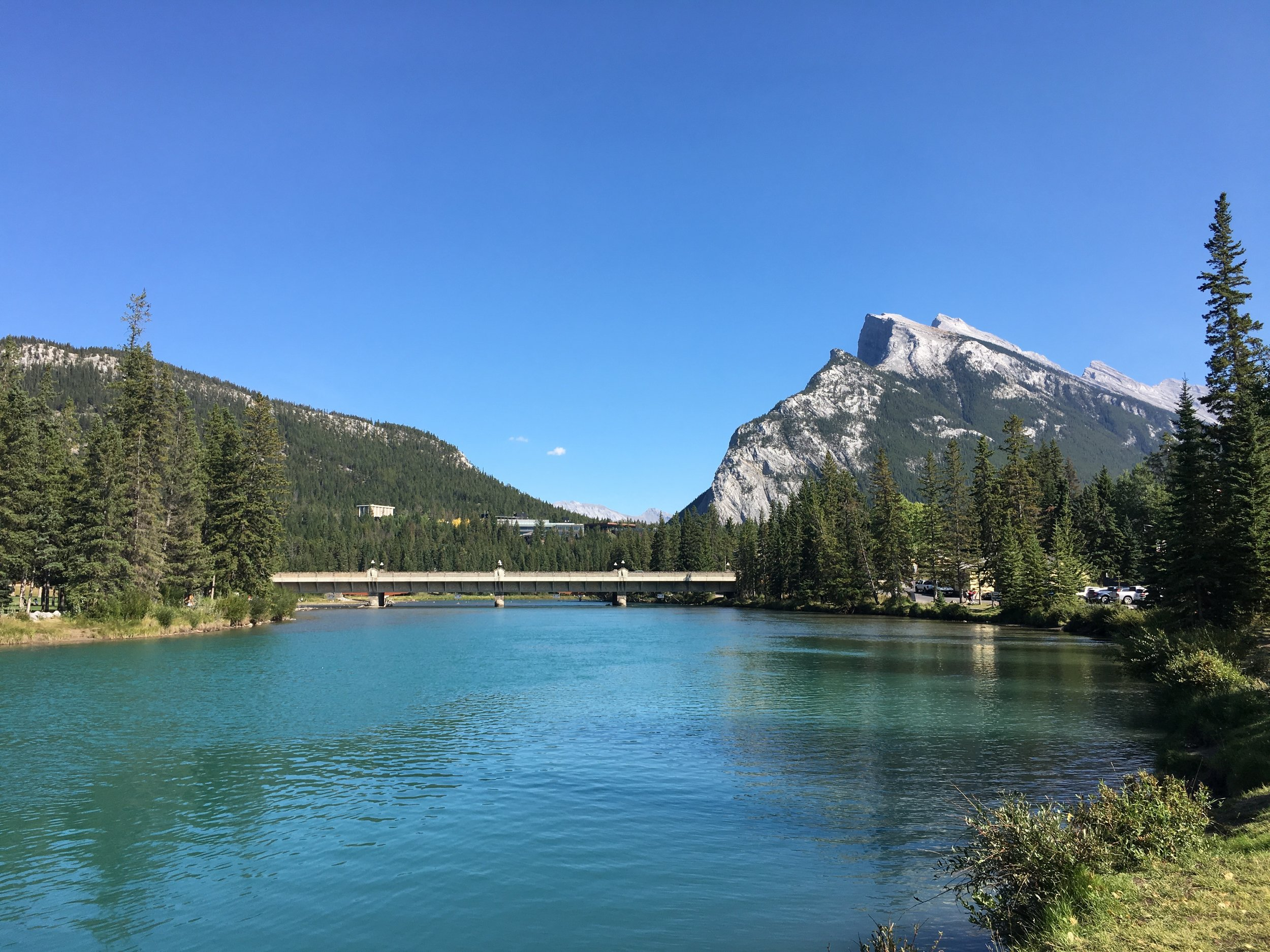 The Bow River which flows the length of Banff National Park