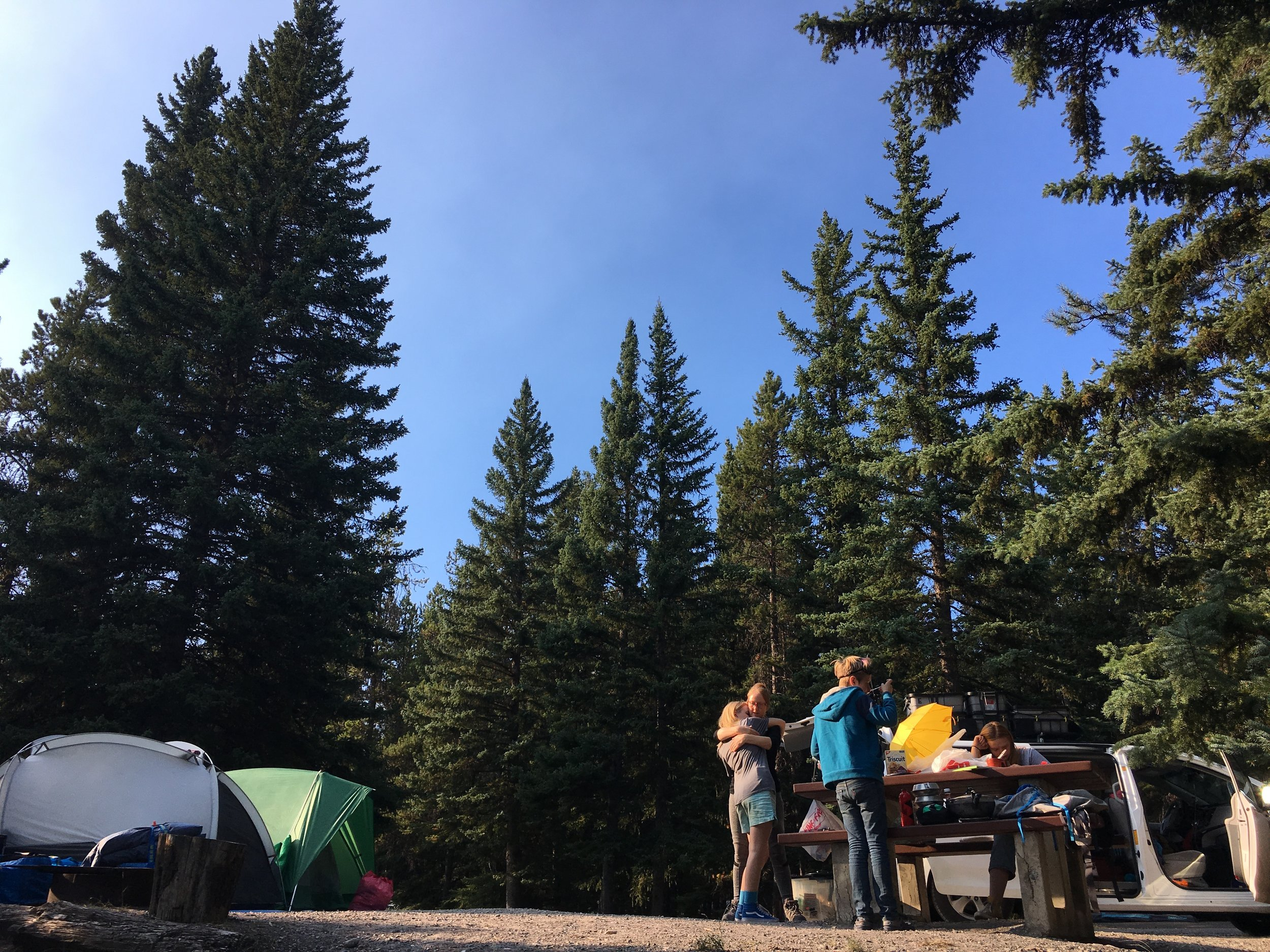 Our campsite in Banff