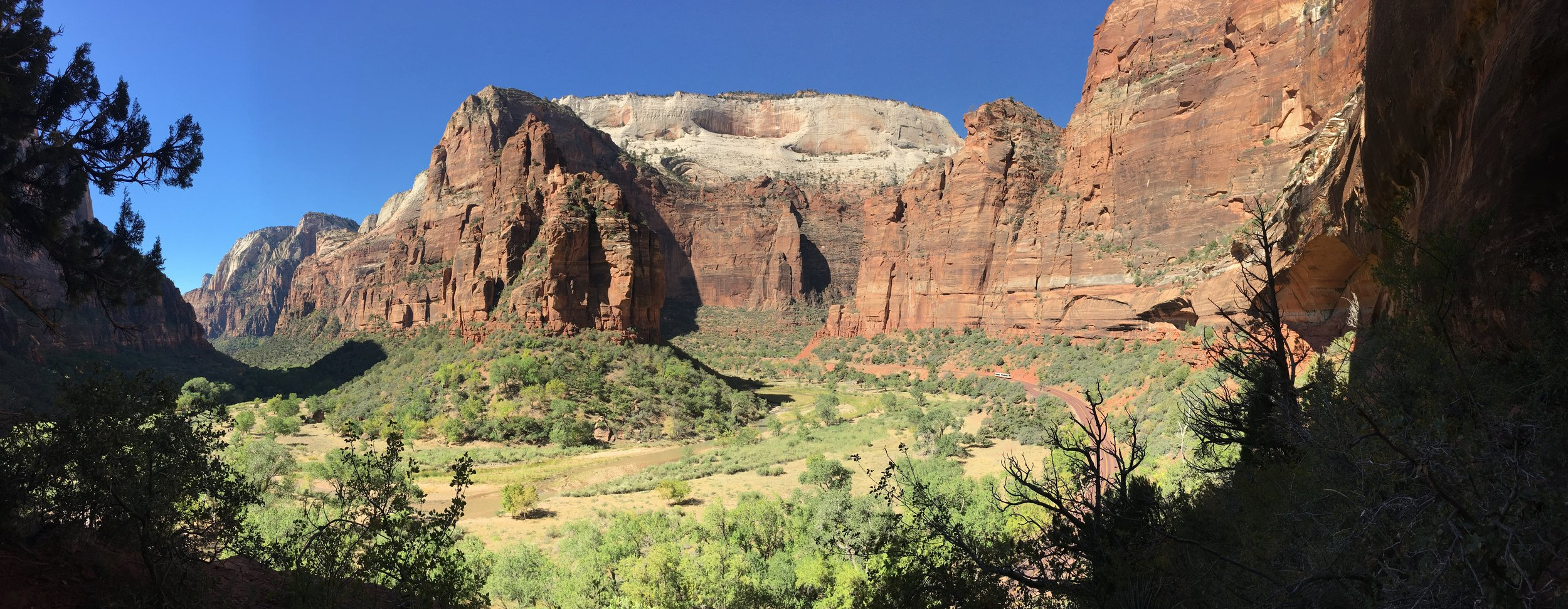Our view A bend in the Virgin River.  Zion National Park