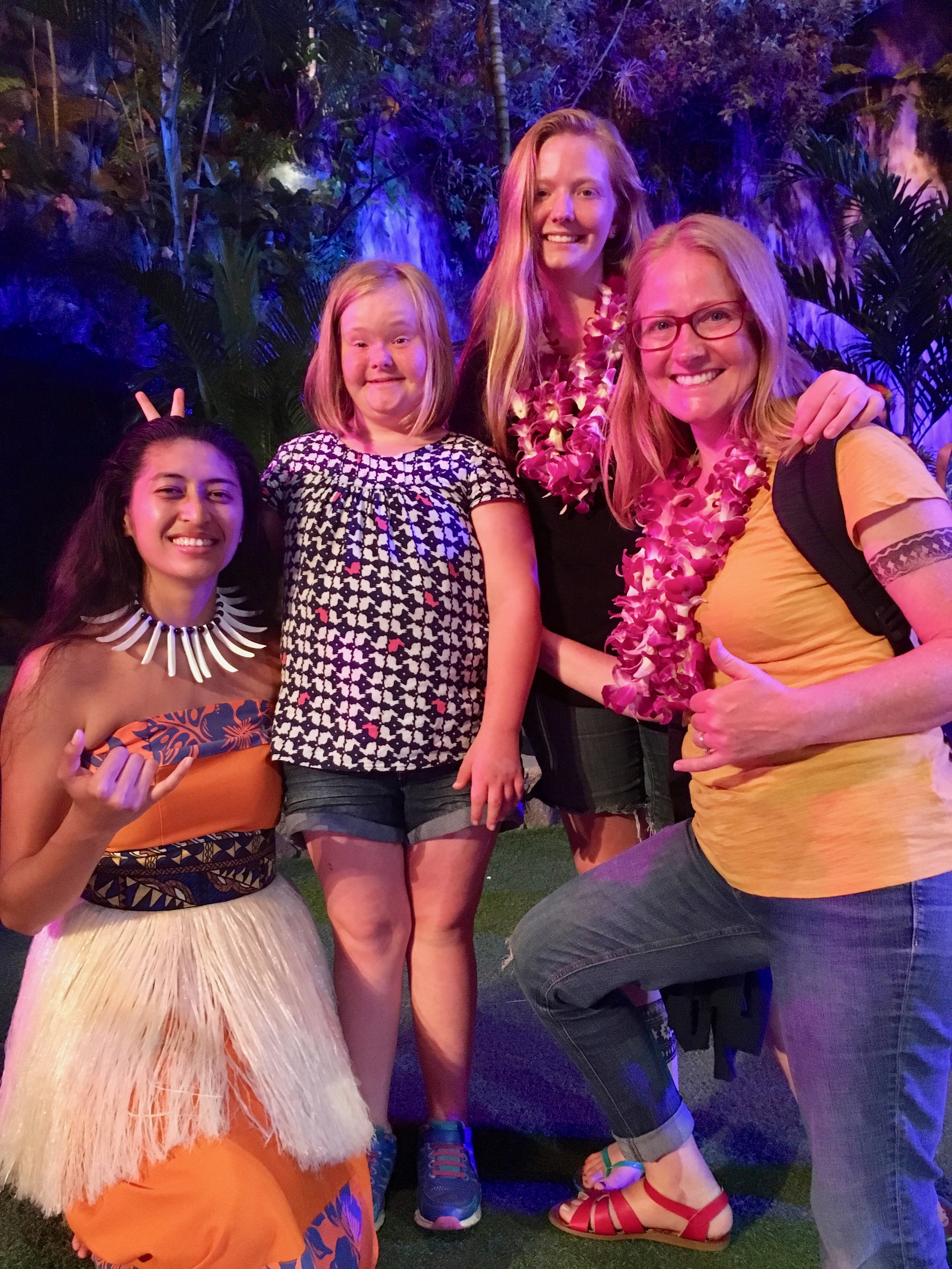 COUSIN JACQUELINE LOOKING A LOT LIKE  MOANA  AFTER HER PERFORMANCE AT  PCC