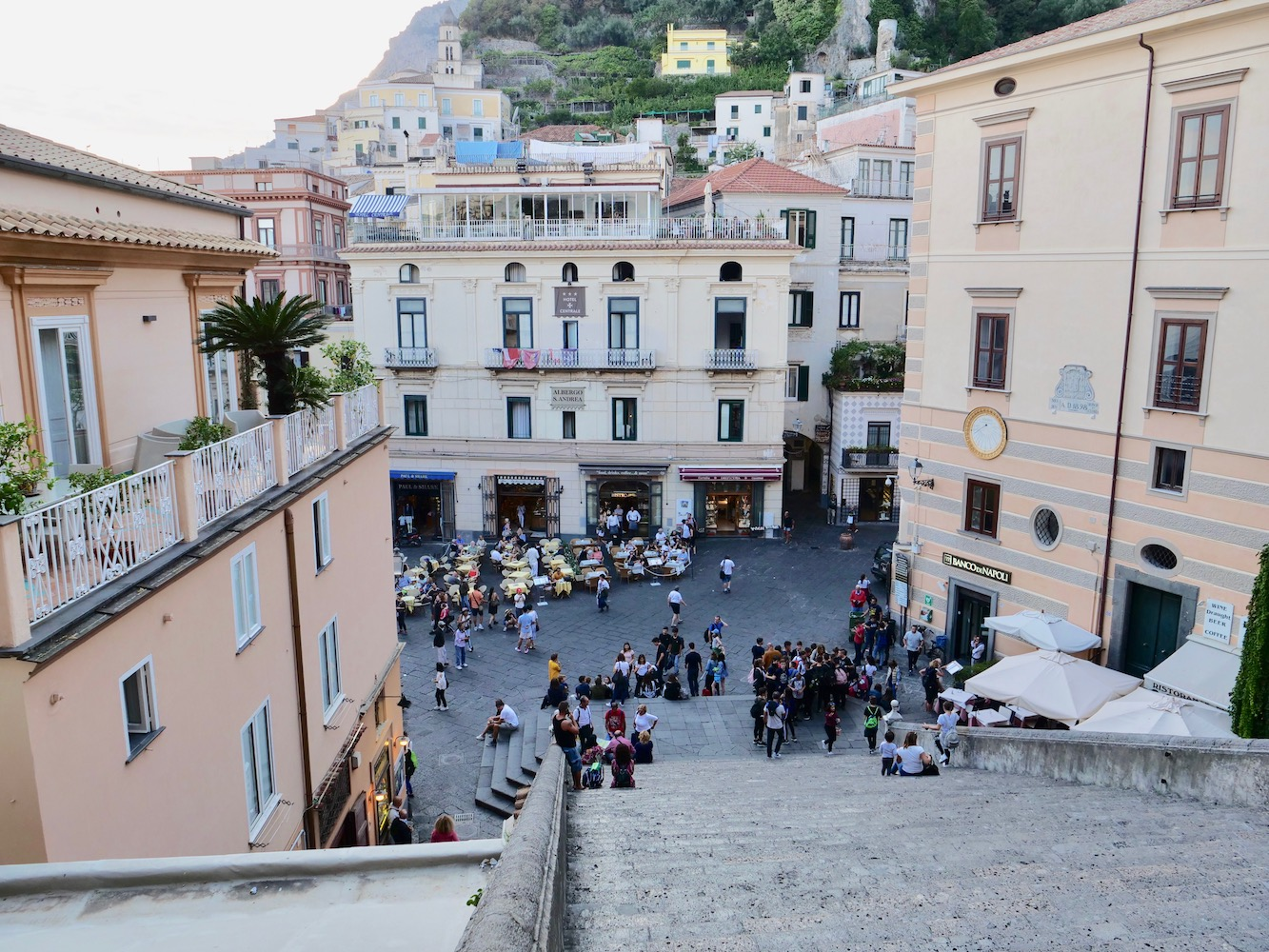 The town square in Amalfi.