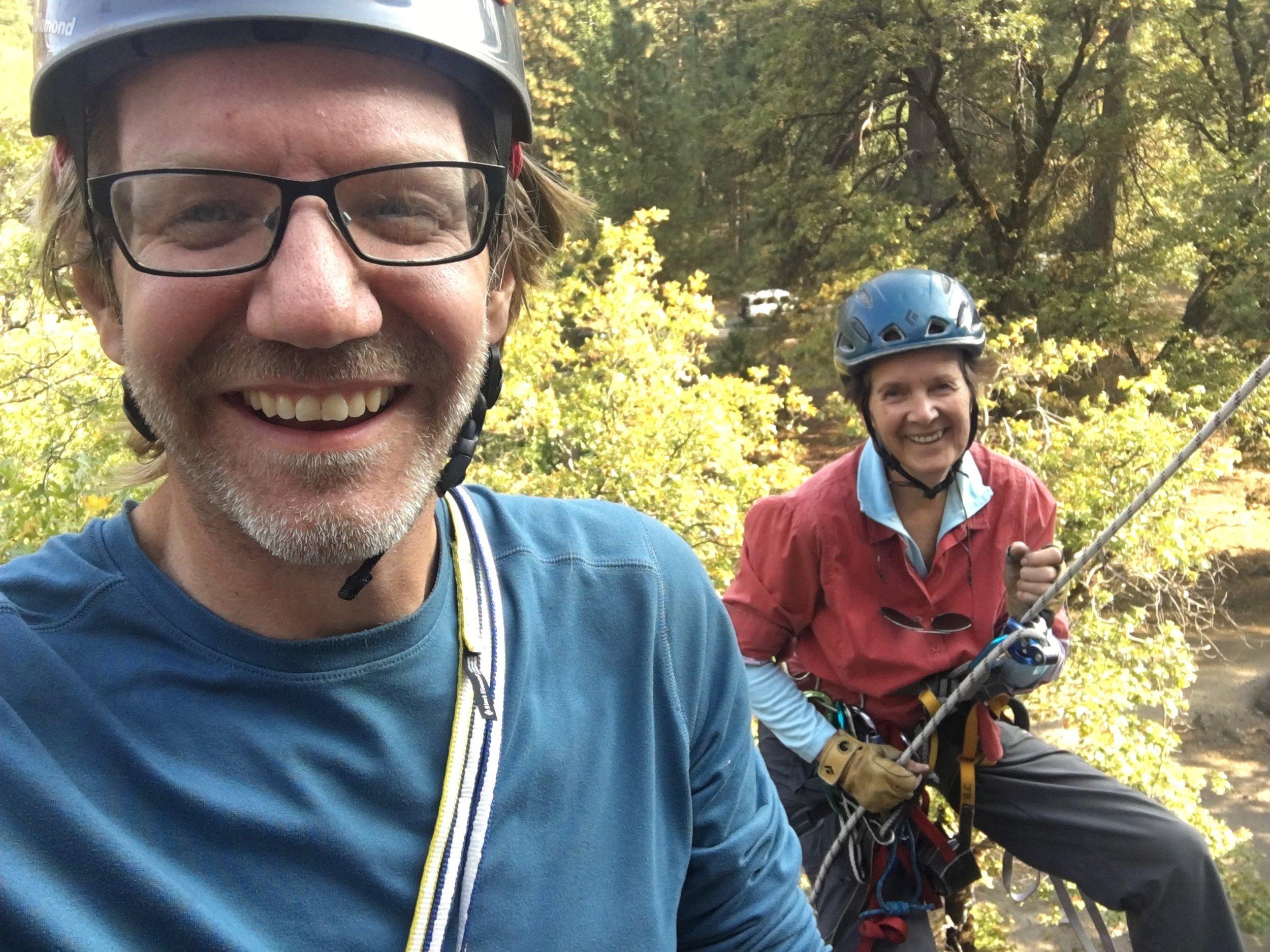 Alex's mom, Dierdre. Swan Slabs, Yosemite.