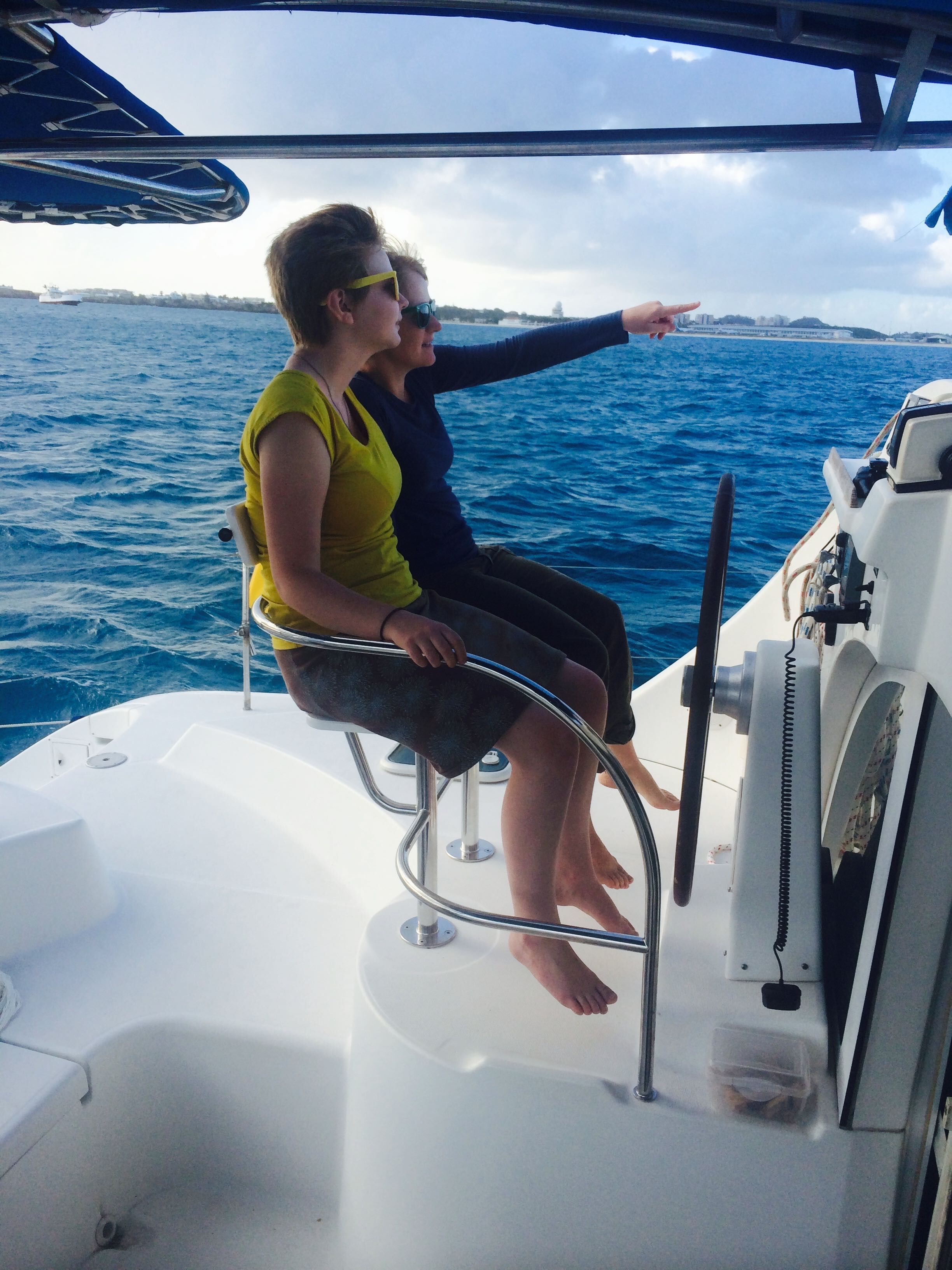 Autopilot in action, St. Martin 2014