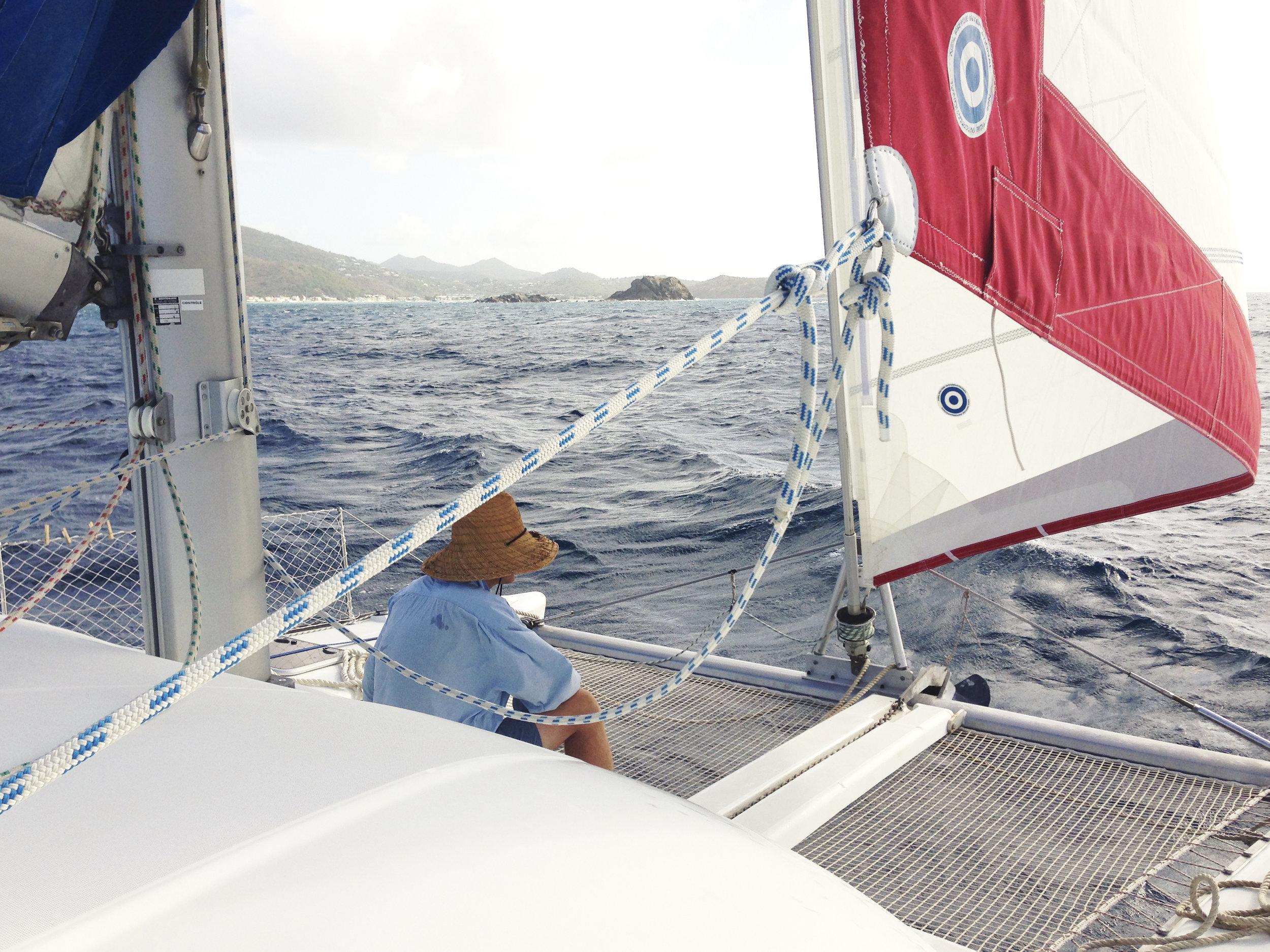 Approaching Marigot Bay, St. Martin. Photo: Ty LaMont Mecham