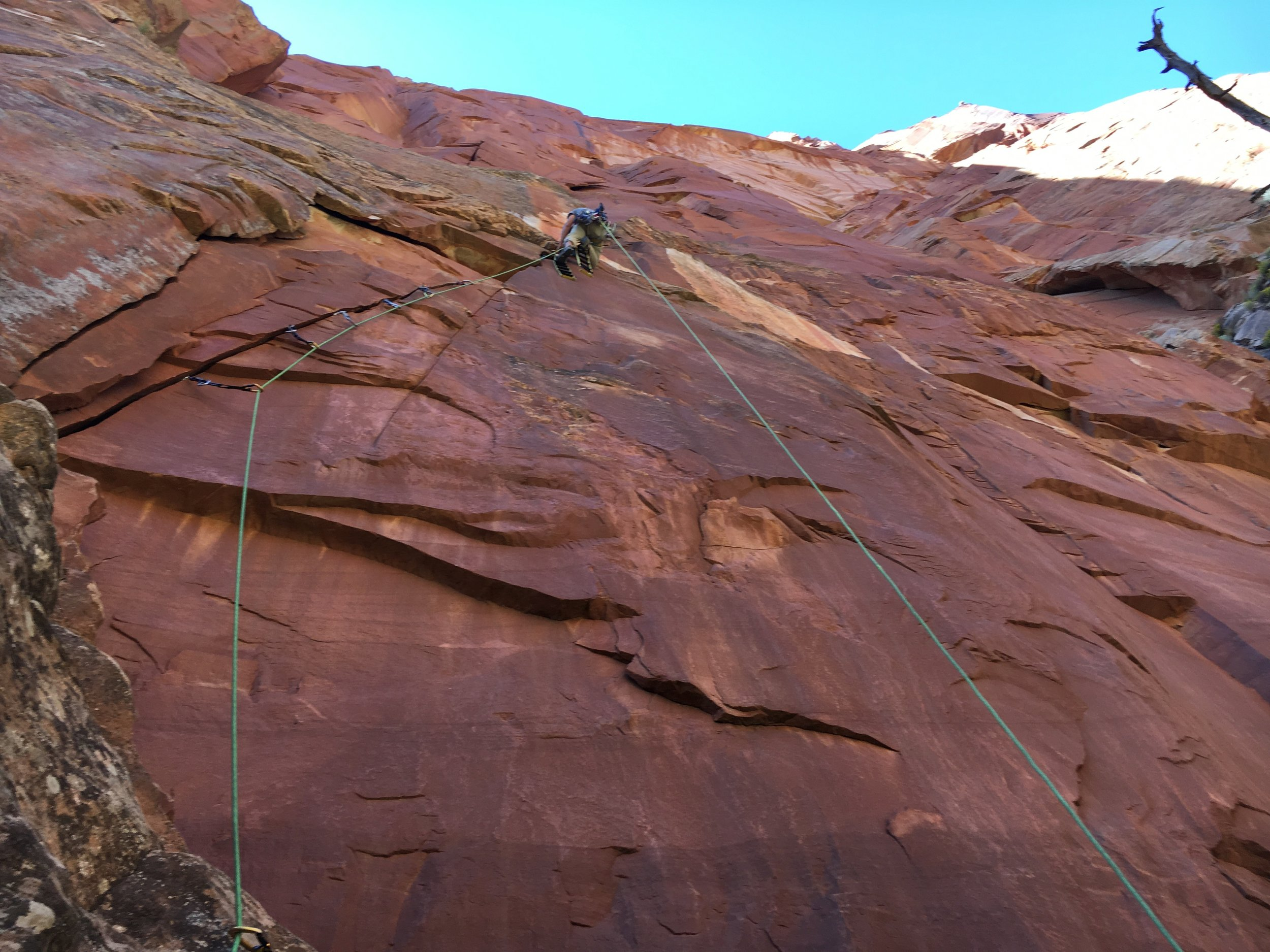 Me practicing aid climbing just outside Zions National Park