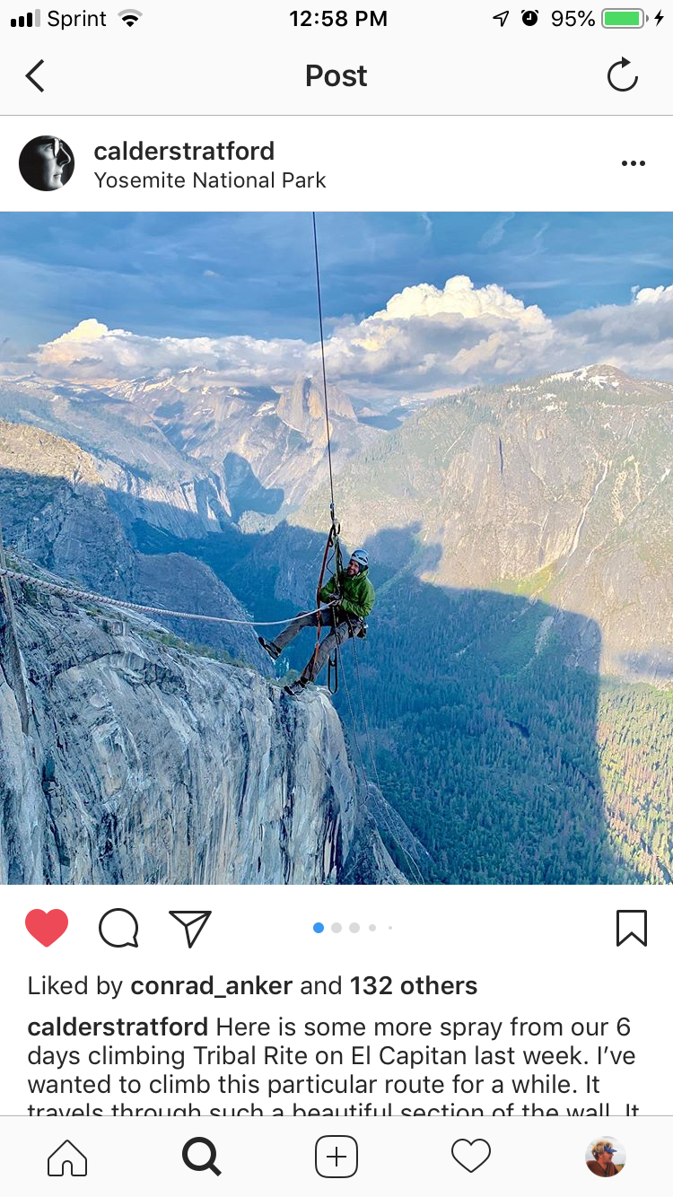 Calder's crew up on El Cap last week. Photo by Matt Galland (I think).