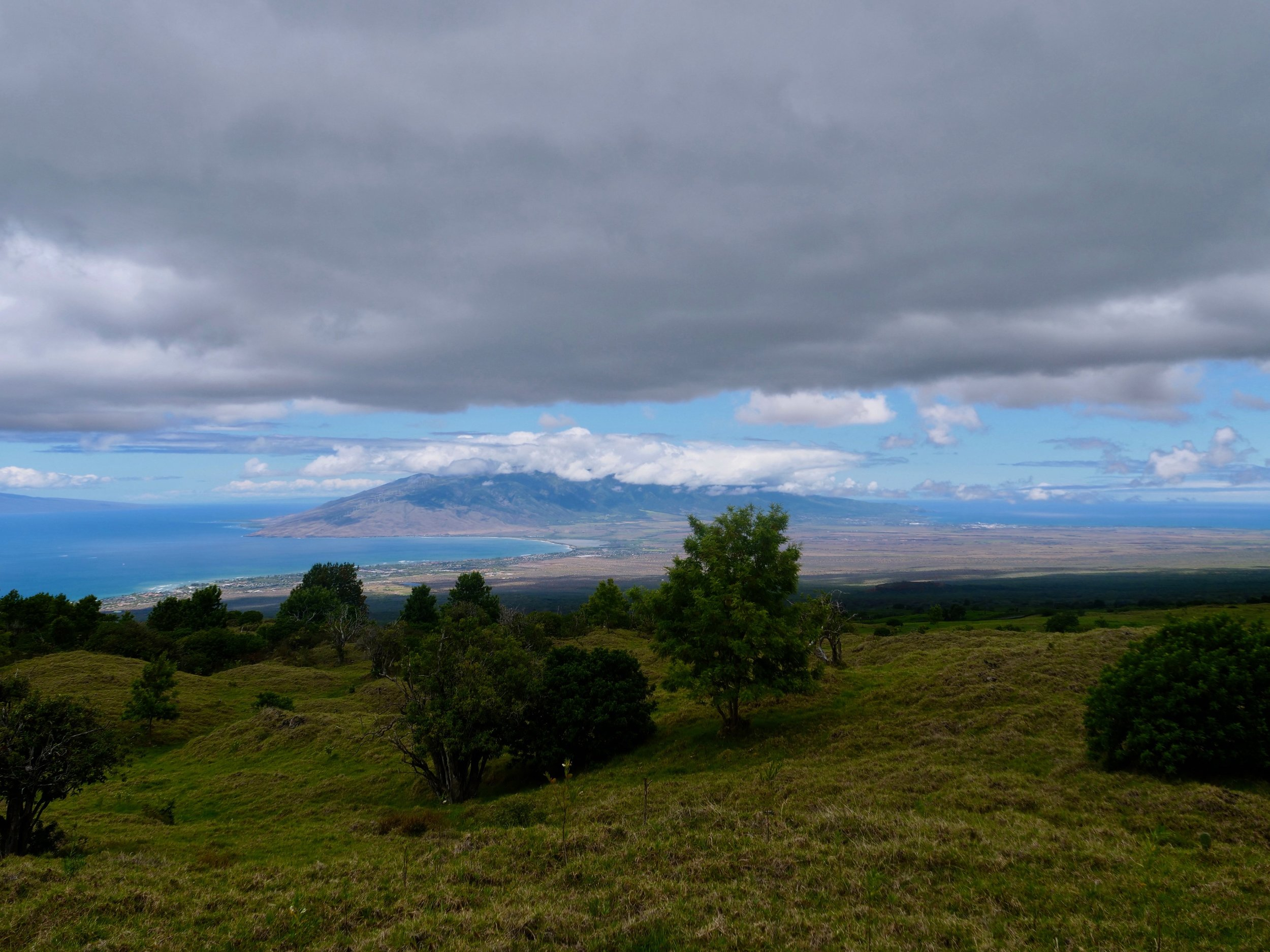 Looking down into the central valley of Maui.