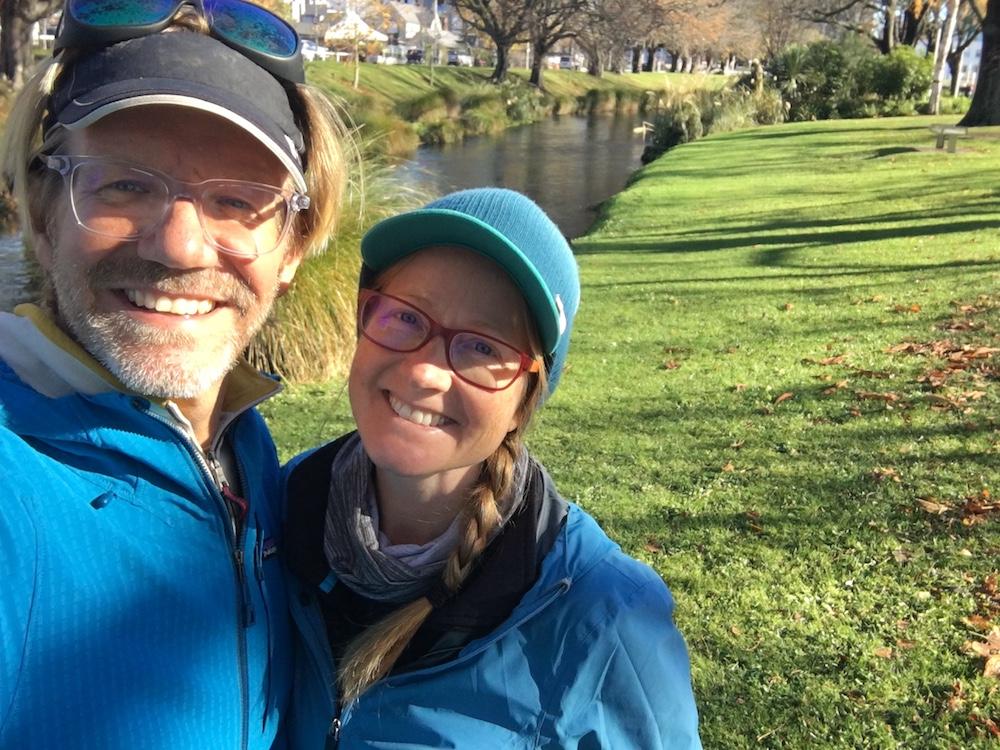 Erik and Emily Christchurch river.JPG