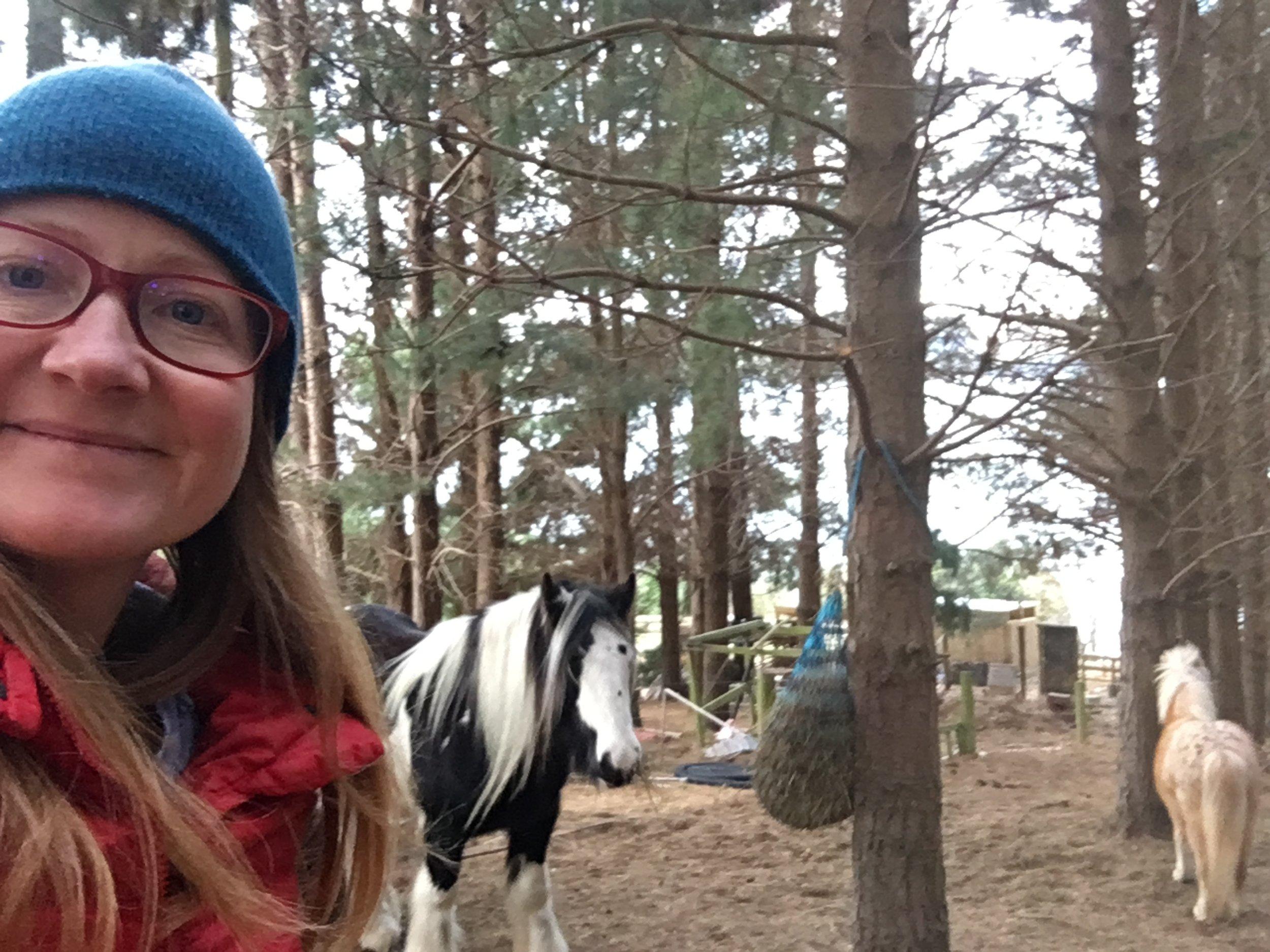 Em and horses.JPG