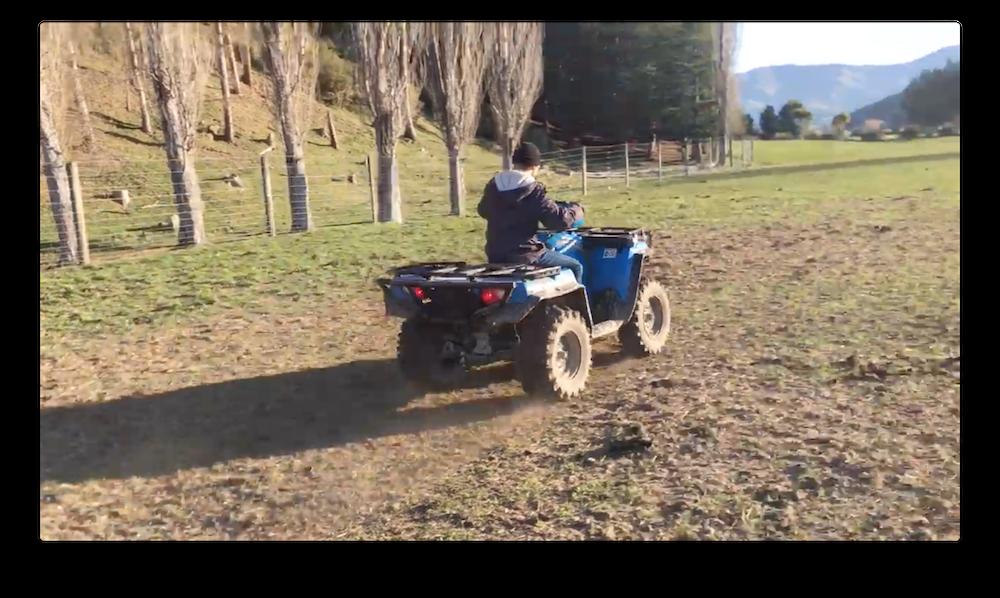 The ATV was Eli's favorite part of farm life