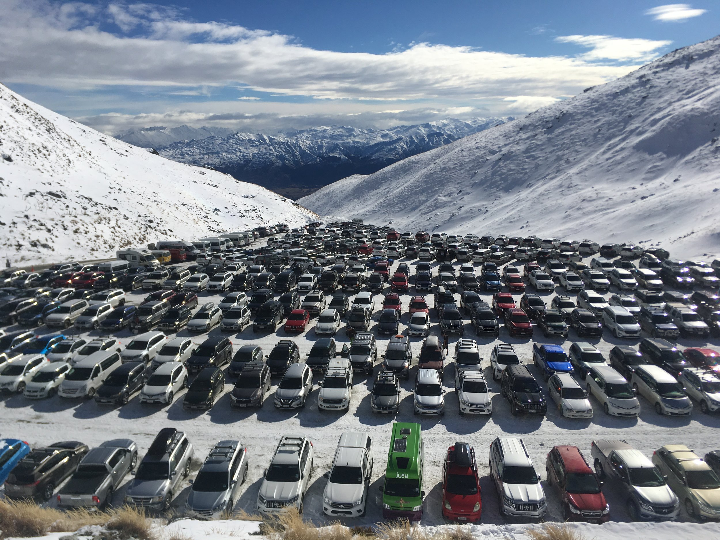 Pristine parking at high altitude