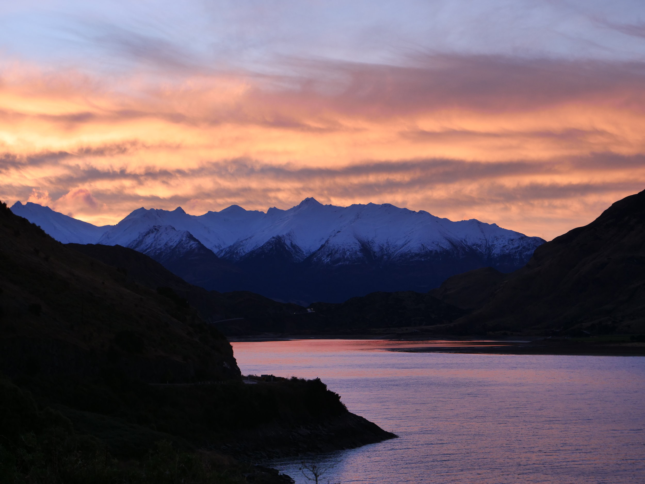 Sunset over Lake Hawea