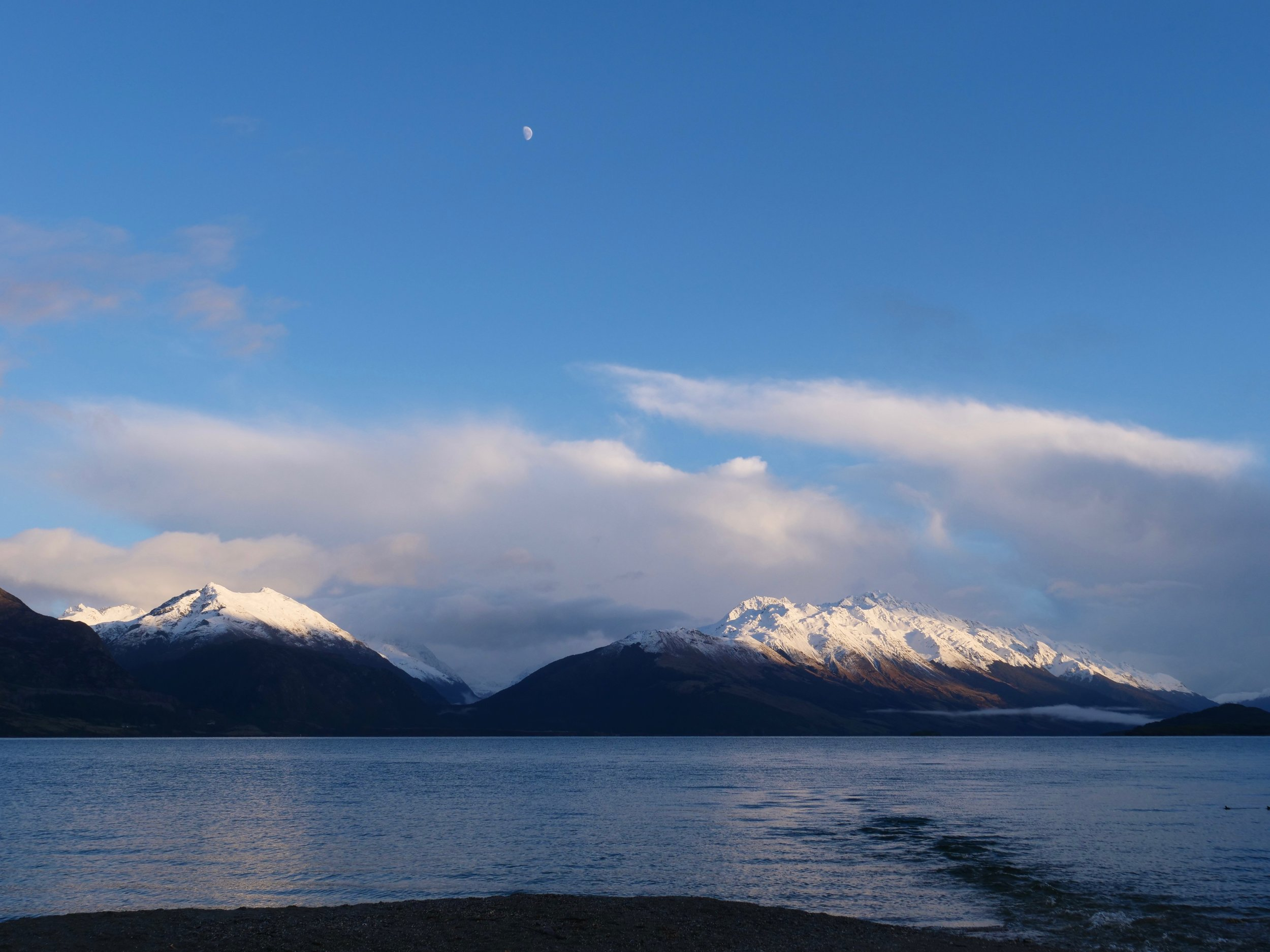 Sunrise/Moonset over Lake Wakatipu
