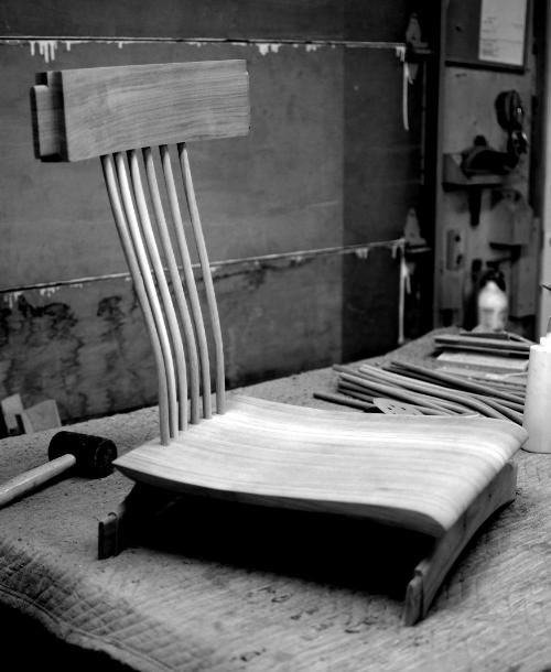 Chaise LOÏC avant assemblage.