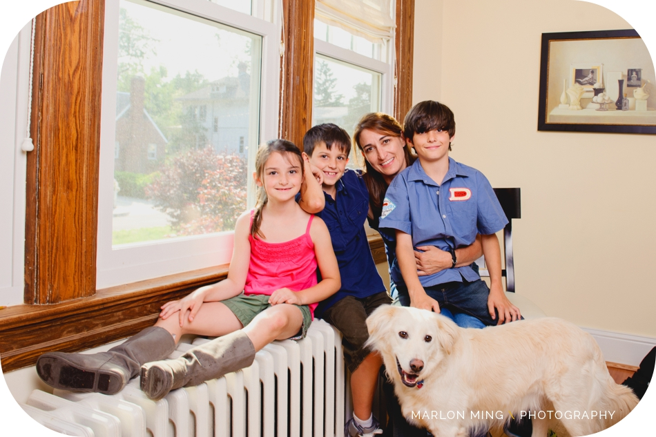 on location photo shoot at the White Family's home in Washington DC.
