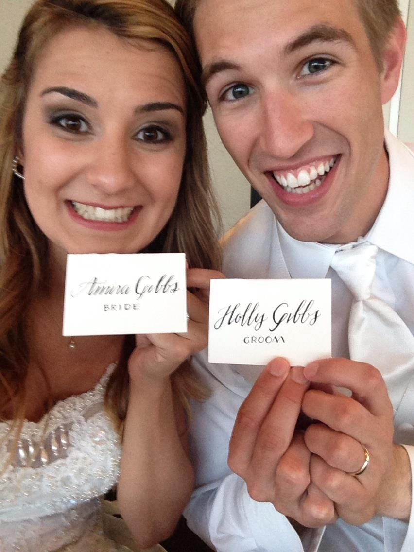 BrideandGroomEscortCards