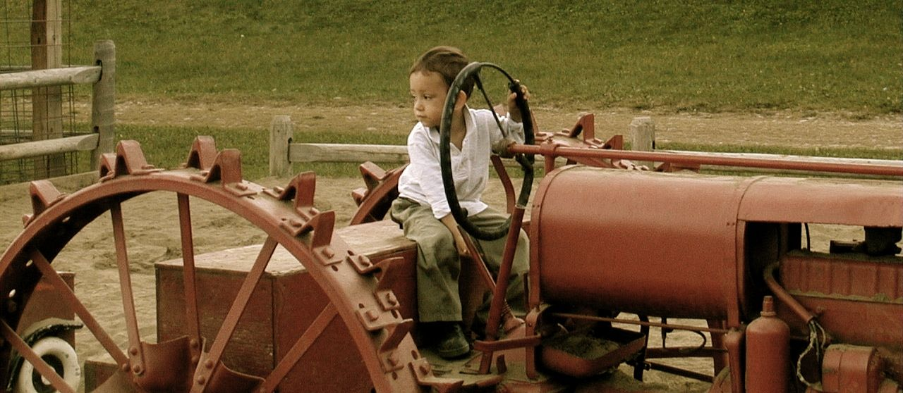 """I couldn't resist. Here's a """"future farmer"""" at Indian Ladder Farms."""