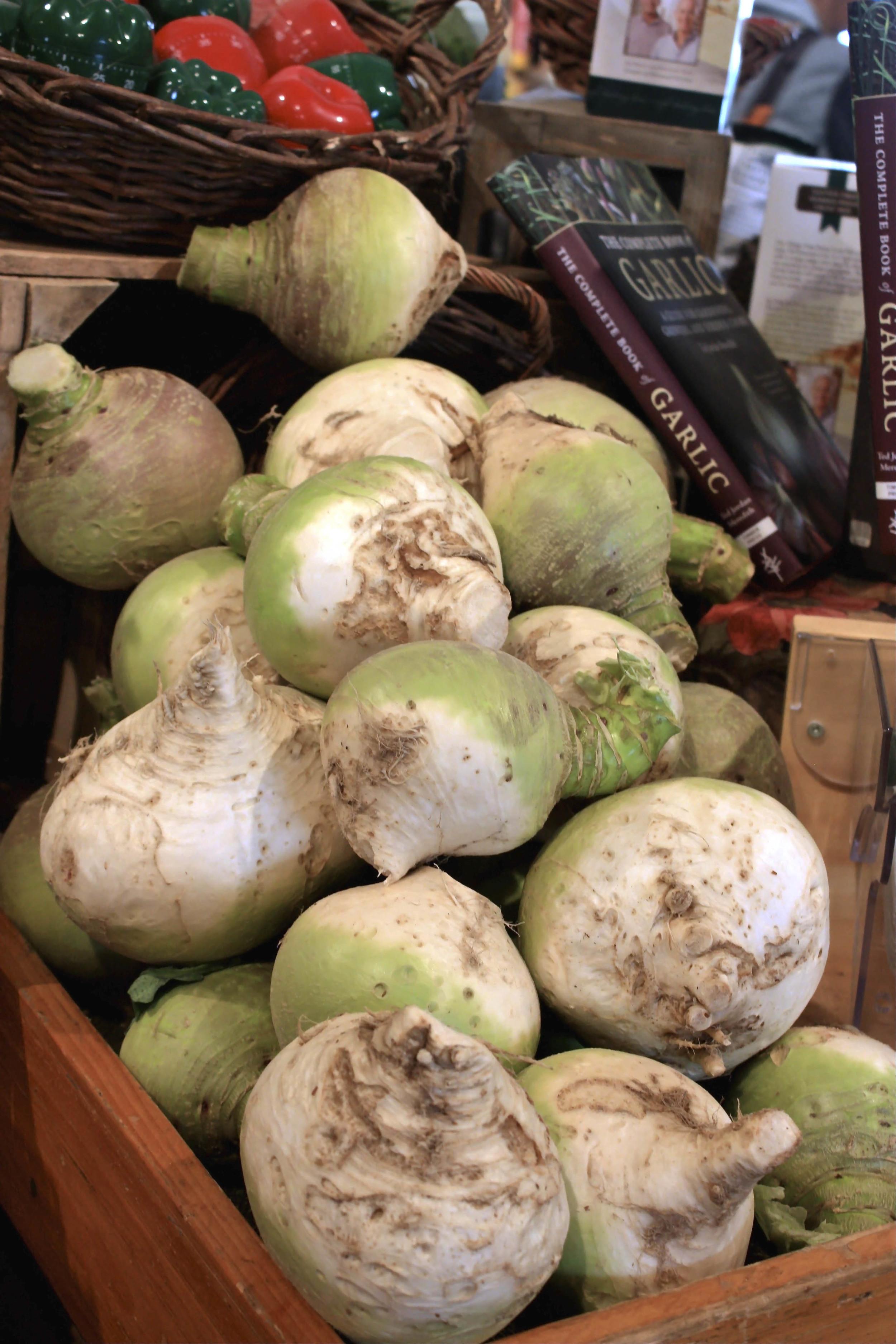 REALLY BIG turnips atSchoharie Valley Farms.