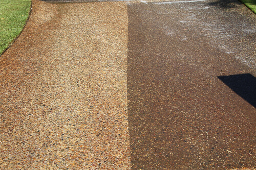 Newcrete Resealers Pressure Cleaning Gallery - Driveway Concrete Pressure Cleaning in Progress.jpg