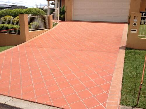 Newcrete Resealers Pressure Cleaning Gallery - Garage Driveway Tiles After Pressure Cleaning.jpg
