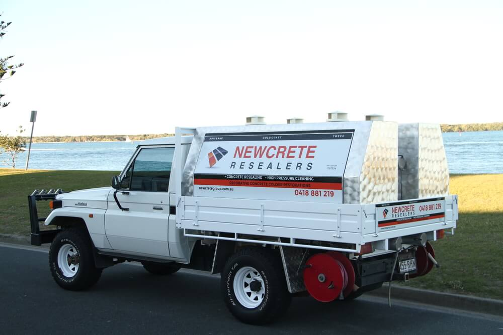 Newcrete Resealers Business Service Vehicle Worktruck Bac View.jpg