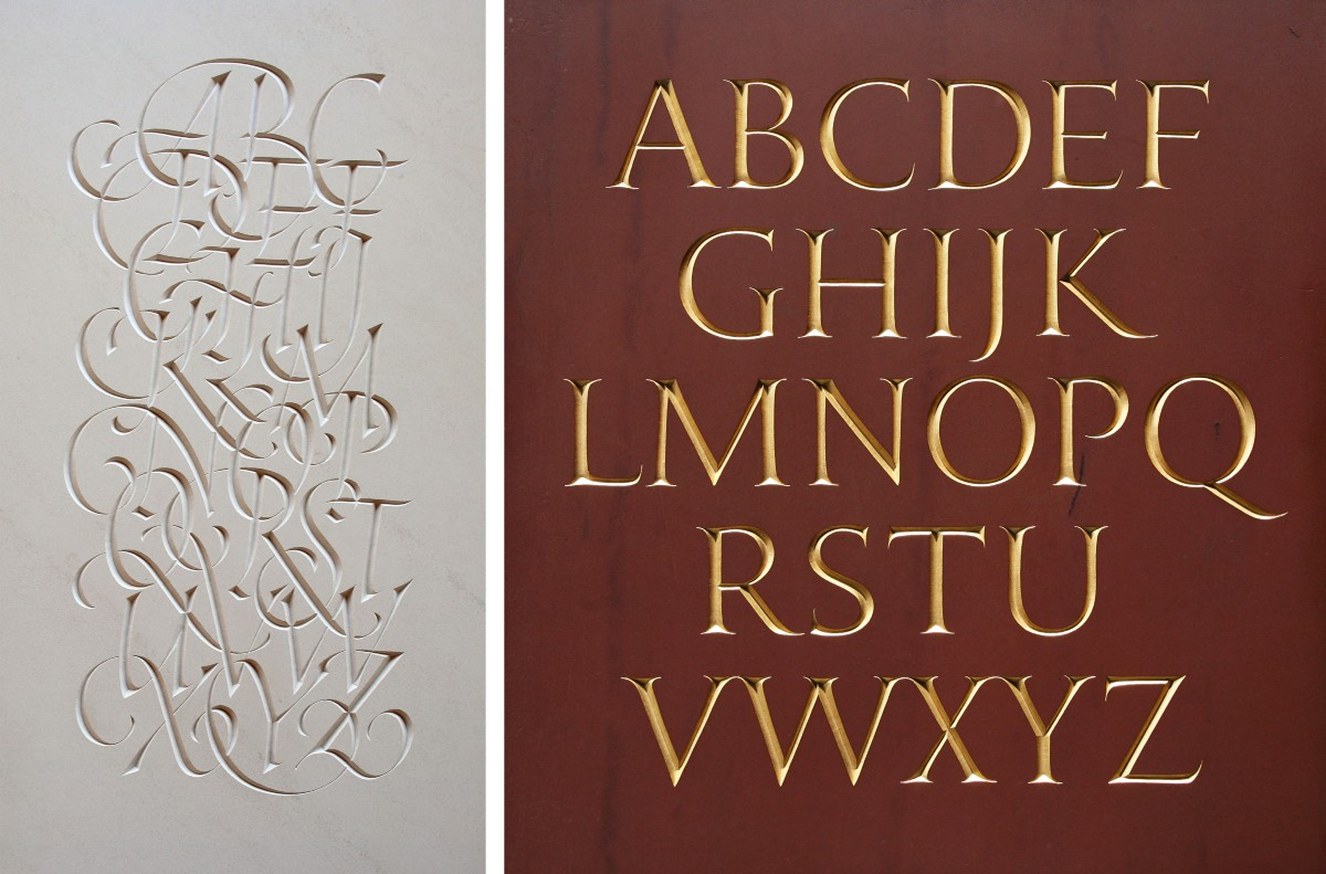 Image above the work of Nick Benson via Medium 'What a stone carver can teach you about digital typography'