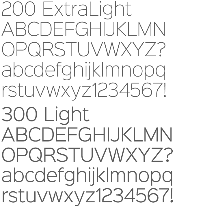 Sinkin Sans is a simple, pleasant, luxuriously proportioned and easy to read sans-serif, supplied in all 9 standard web weights, 100 to 900, plus italics, so the face is a comprehensive illustration of the CSS web font numerical scale.  Sinkin Sans is designed with tiny, inconspicuous notches that sink into verticals at the intersections of strokes, adding highlights to congested corners. The incisions make right angles appear sharper and improve definition in more intricate characters.  Sinkin Sans was created to be the web font for the 2014 K-Type site redesign, and to celebrate the launch the whole family of 18 fonts is gifted under the Apache 2.0 licence,  absolutely free for Commercial and Personal use.   And has been downloaded 160,000 times from Font Squirrel alone, as of early 2016.