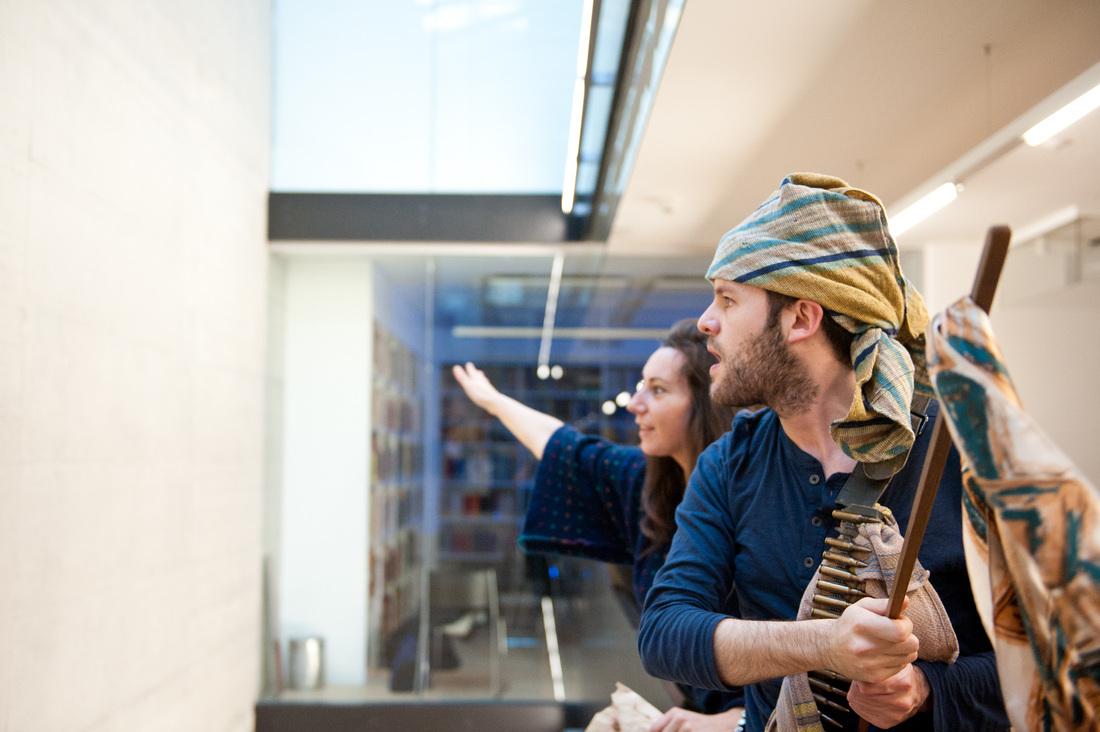 "Opera Project ""Klangwandeln"" - Rehearsal as Emireno scene from Teofane by A. Lotti (with Sara Bino) - Regie: Manfred Weiss - Schola Cantorum Basiliensis 2011 - Foto by: Susanna Dresche"