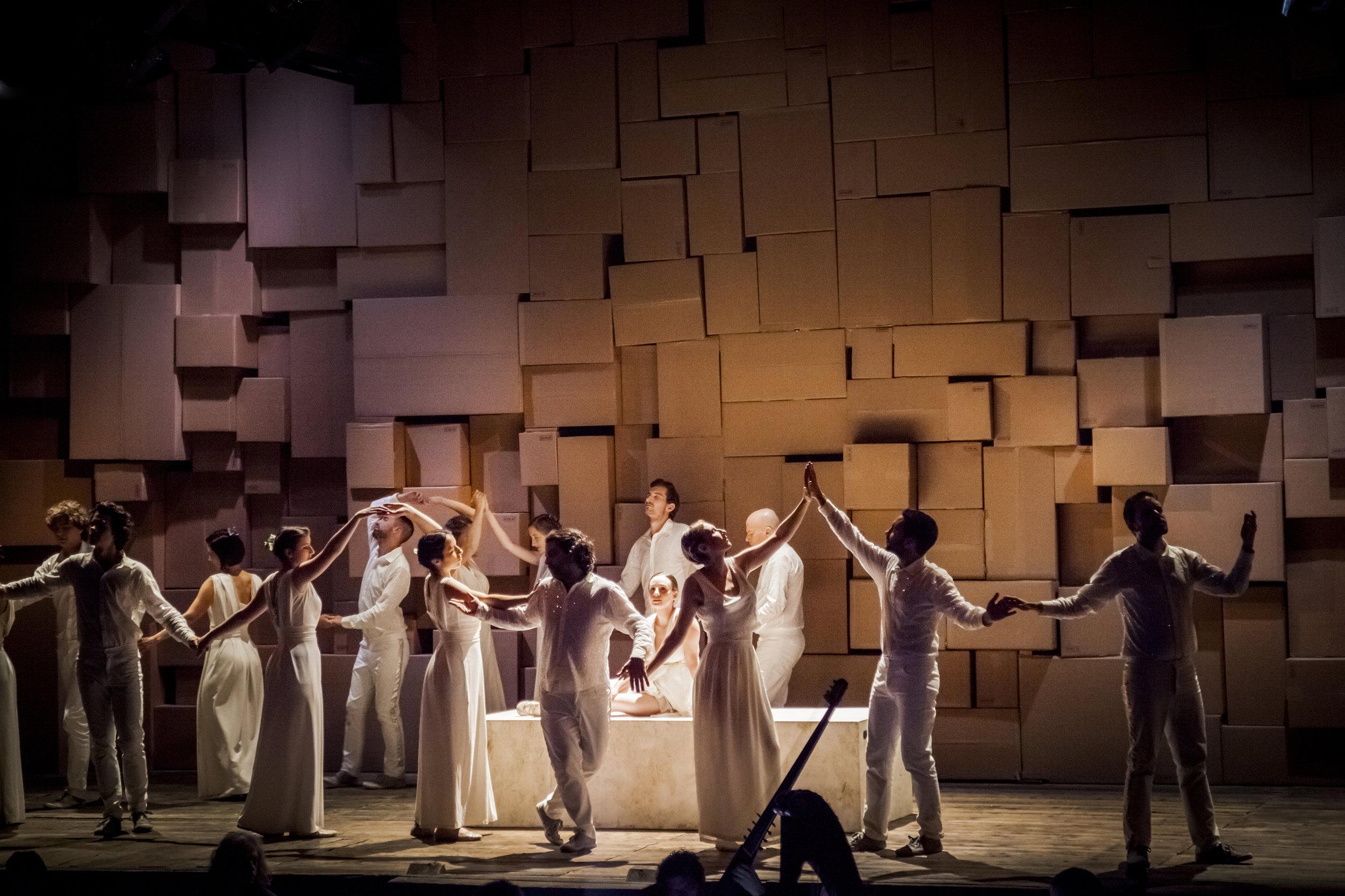 "L'Orfeo by Claudio Monteverdi · As ""Pastore"" · Ouverture Opera | Daedalus ensemble · Conductor: Roberto Festa · Regie: Olivia Seigne · September 2016 · Foto by © Foppe Schut"