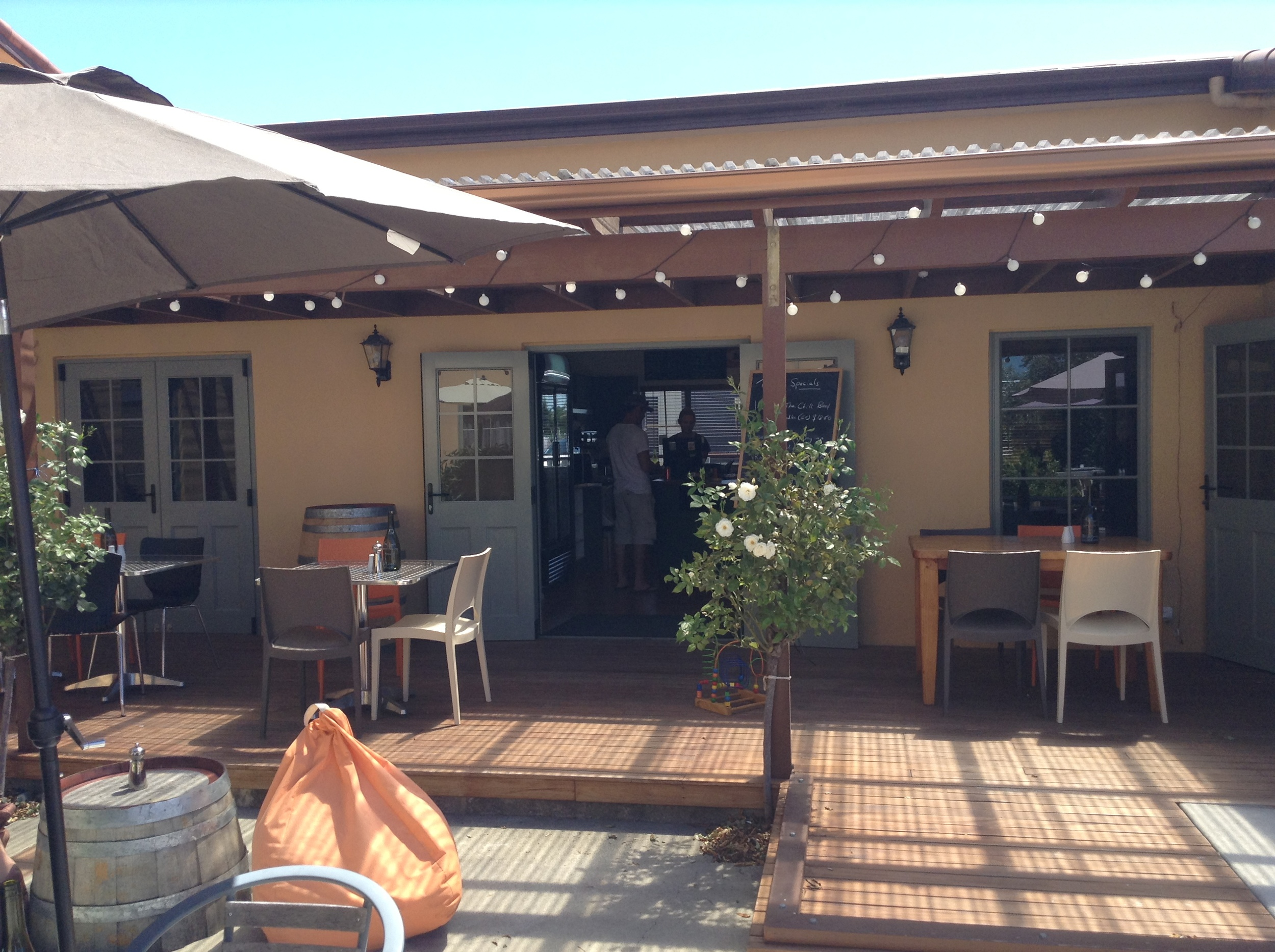 Unison's Unwined cafe and cellar door has a charming villa setting.