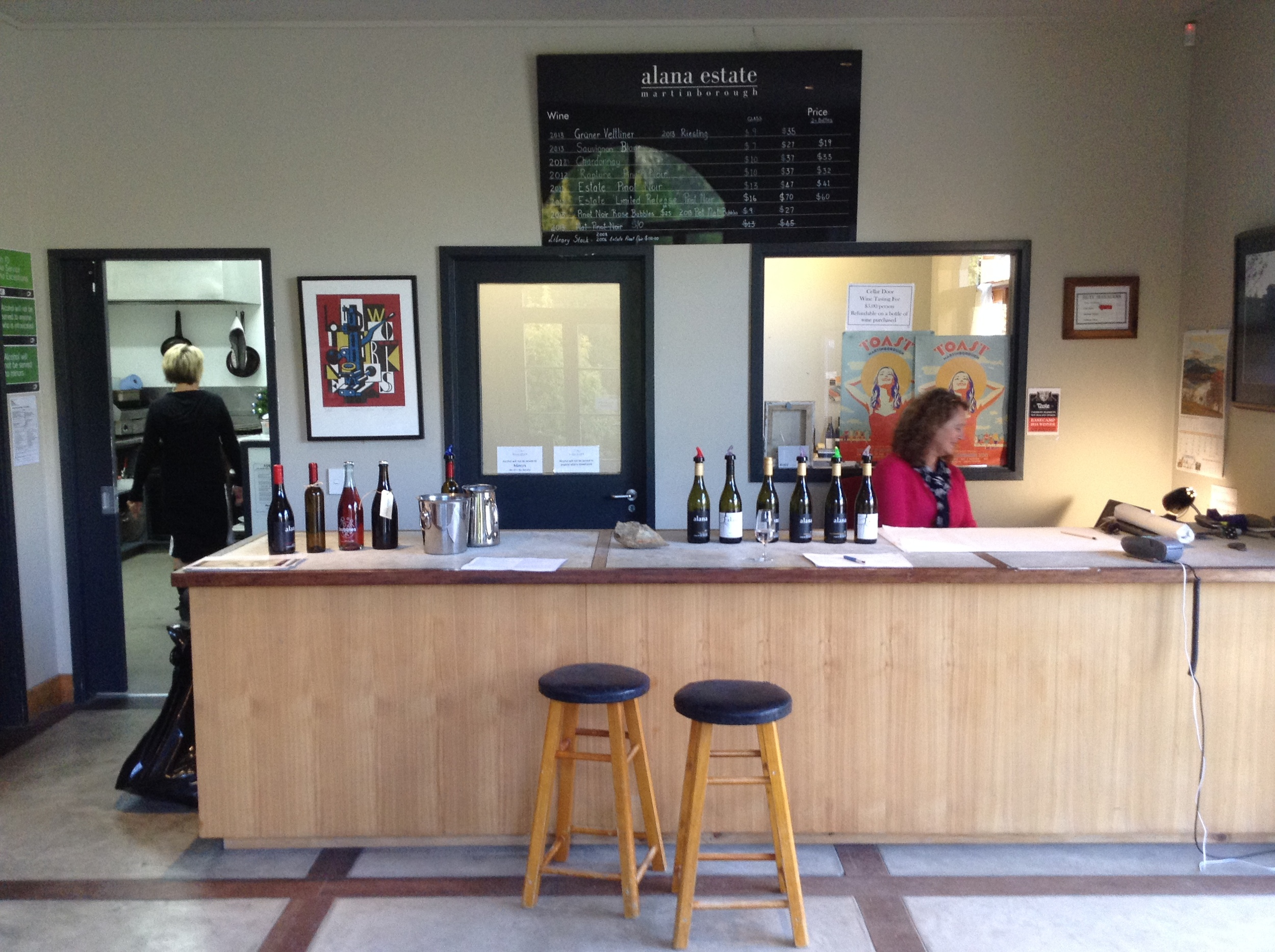 Alana Estate's Cellar Door, operating for the last time in it's current form.