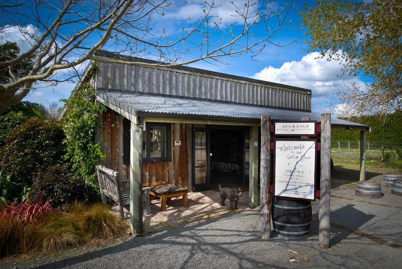 This building was the original tiny winery site for Ata Rangi and this history lives on as their rustic cellar door, a perfect fit for this character-driven vineyard. Image courtesy of Ata Rangi.