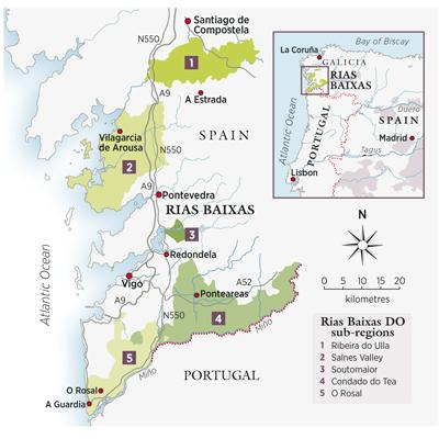Sub-regions of Rias Baixas