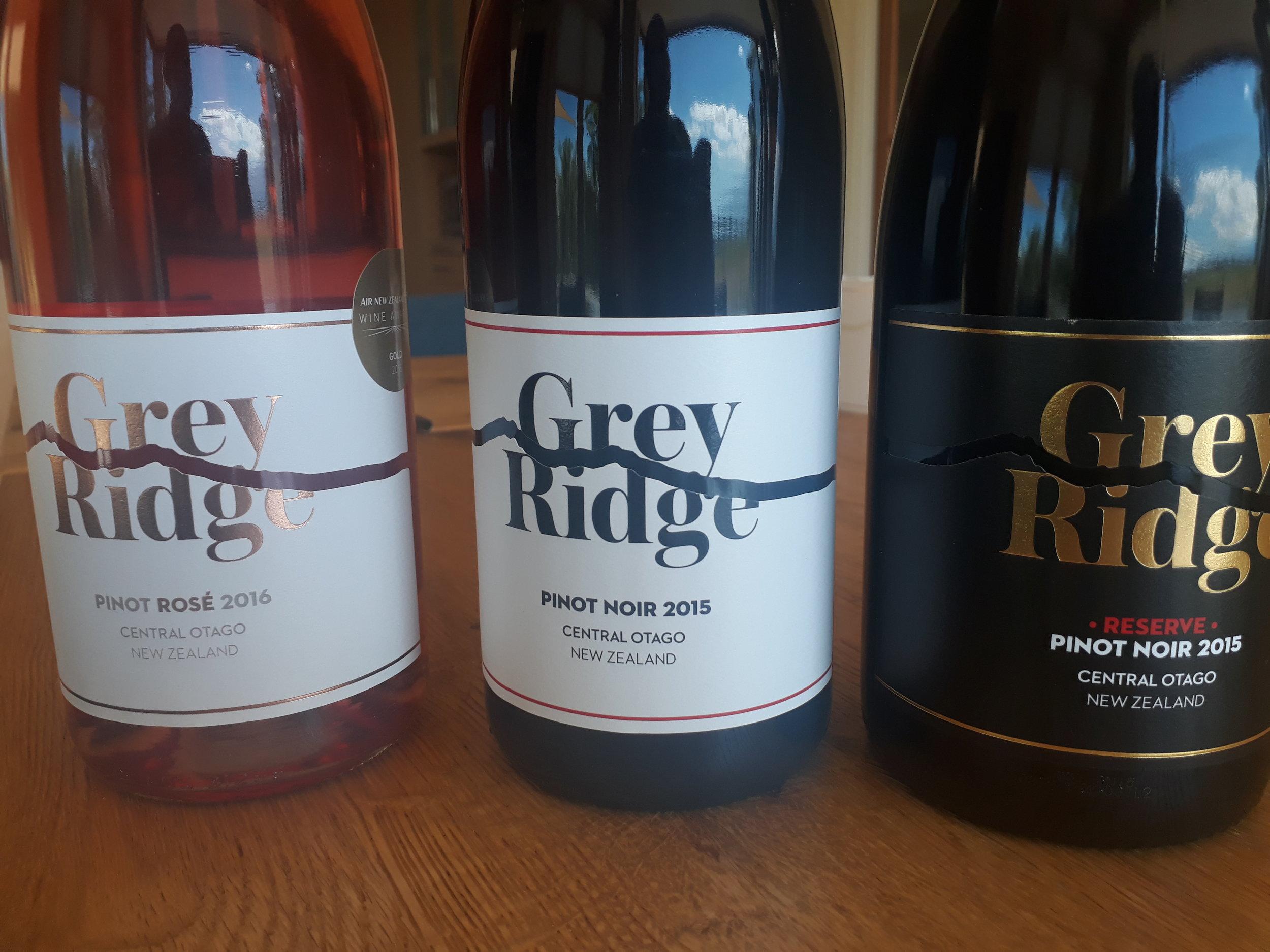 Slick new designs for Grey Ridge. Award-winning Rosé 2016 on the left.