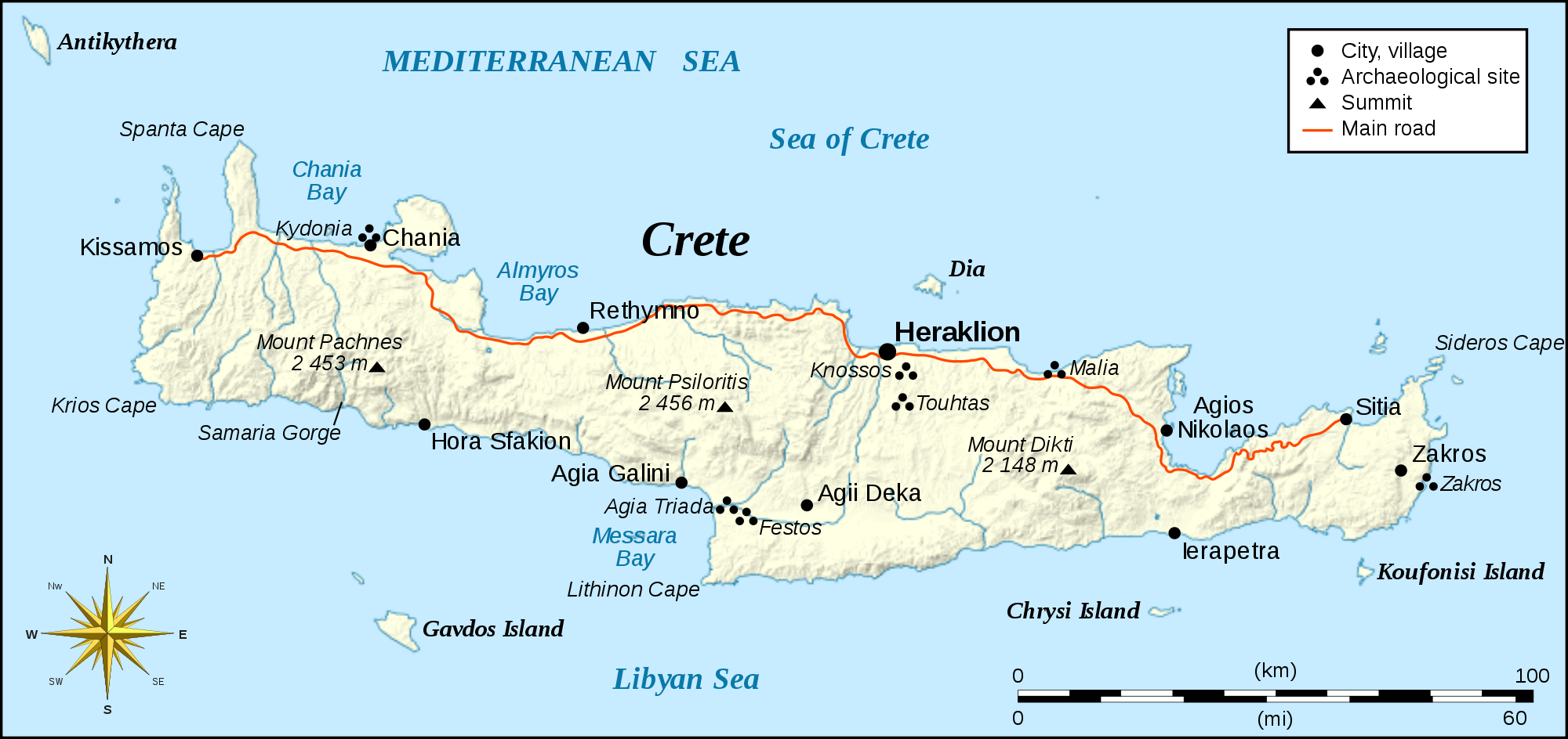 Crete is littered with historical sites and several of Greece's tallest mountains, which have a huge effect on the climate and culture