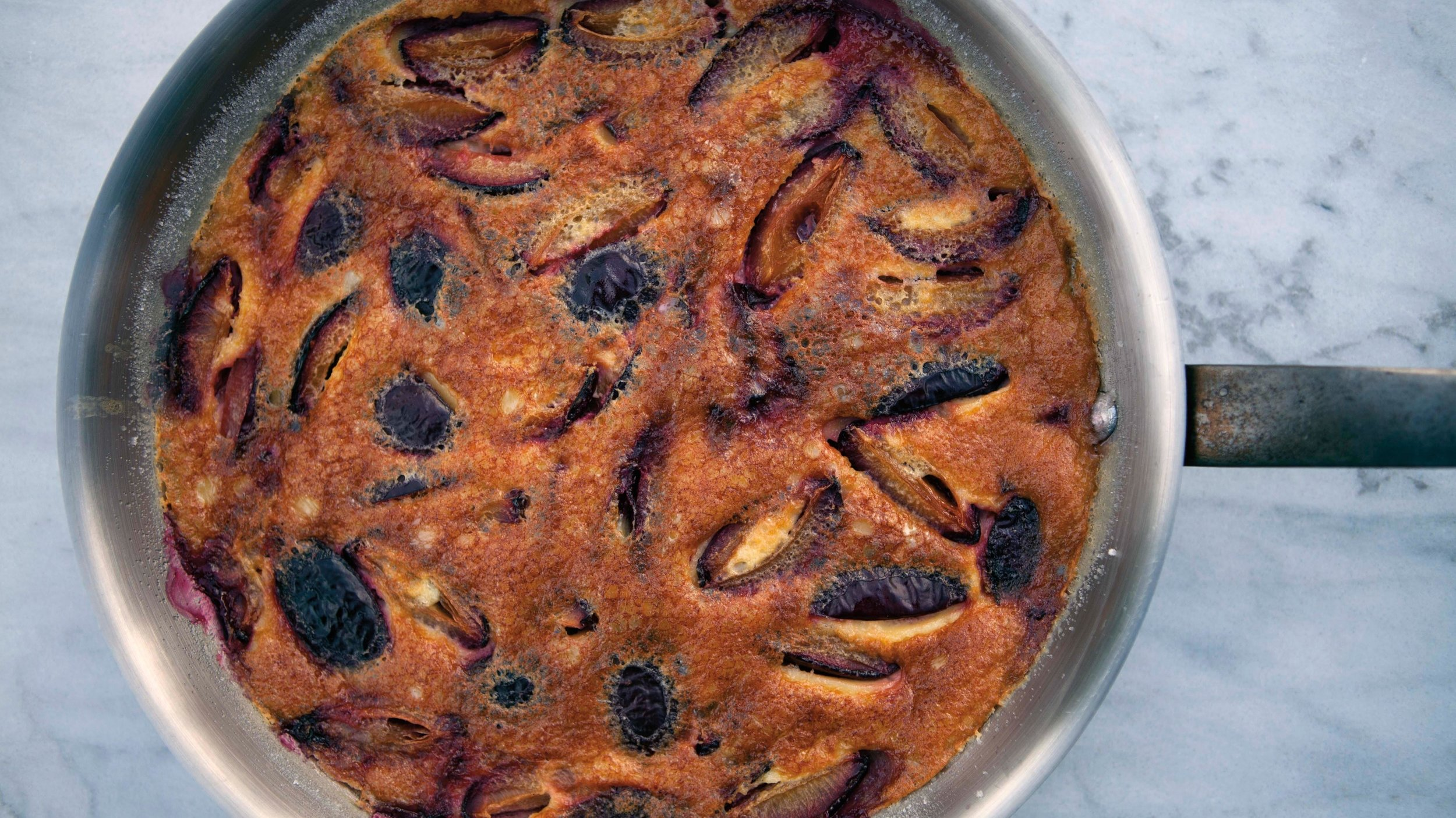 Milk, Cream, Butter, Eggs - Clafoutis with Plums