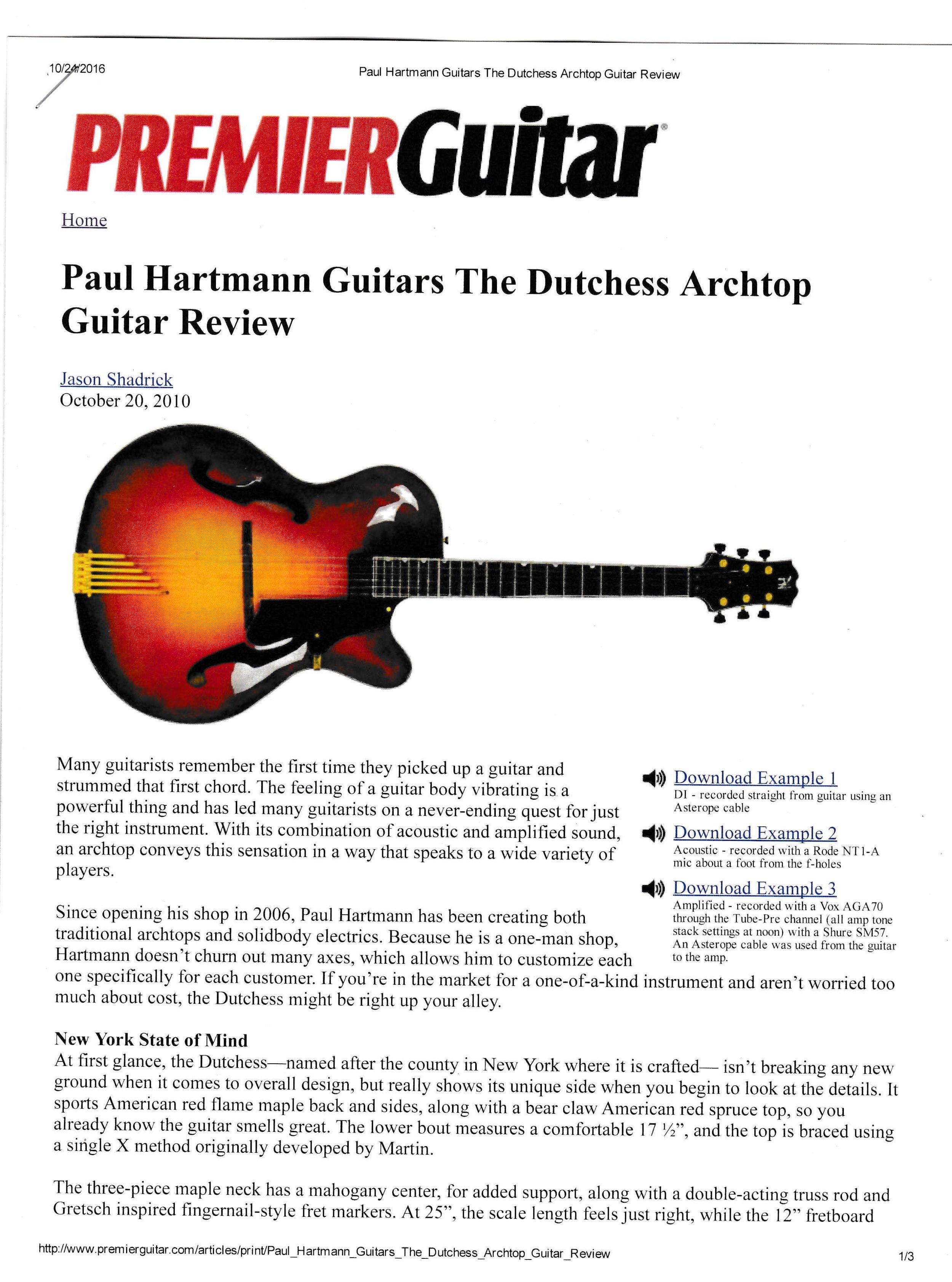 Premier Guitar December 2010
