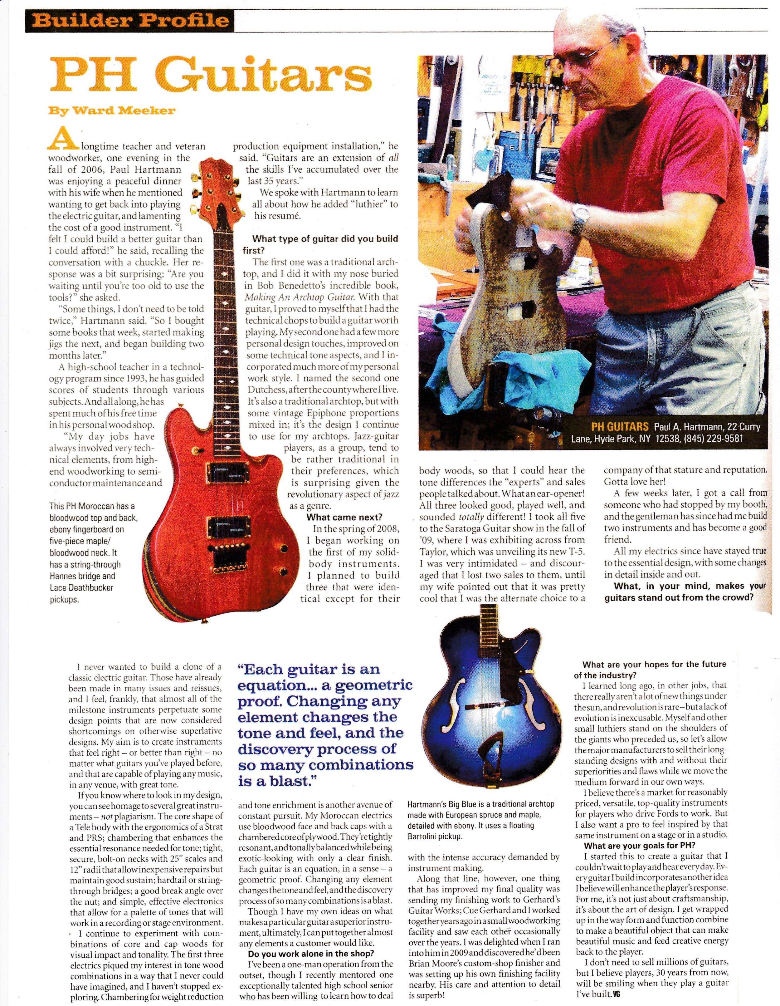 Vintage Guitar June 2012