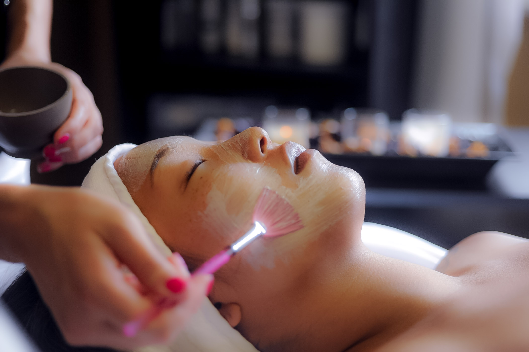 6 months prior to wedding we recommend starting a 6 step facial series. stop any facial treatments one week prior to the wedding. Stop any peels two weeks prior to the wedding. COME INTO THE SPA FOR SOME PAMPERING THE DAY BEFORE YOUR WEDDING TO PRIMP AND PREP WITH A LUXURIOUS MASSAGE, blowout, NAIL AND WAXING TREATMENTS.