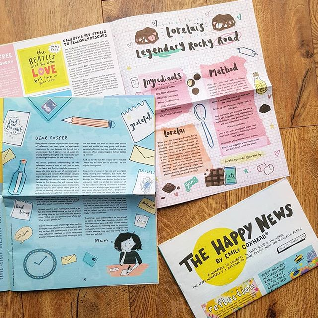I illustrated two pages in the lovely @emilycoxhead 's @thehappynewspaper issue 13❤ and im currently working on things for the next issue! Don't forget to subscribe to recieve a dose of happiness! ☀️