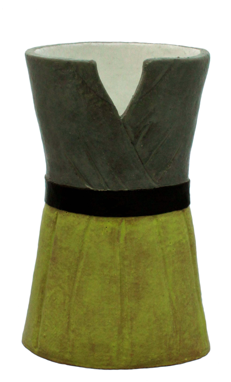 Gray & Green Dress