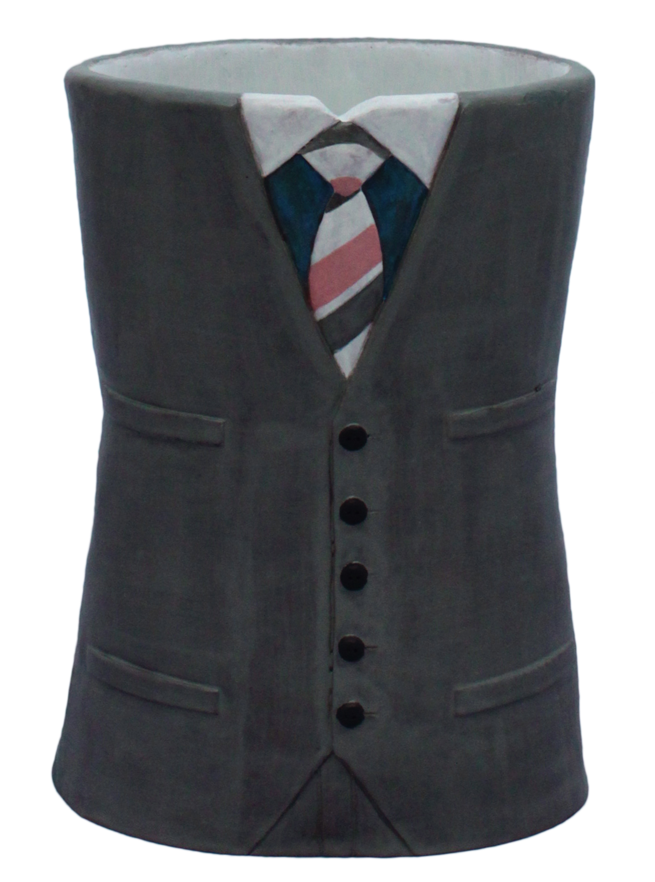 Gray Suit and Striped Tie
