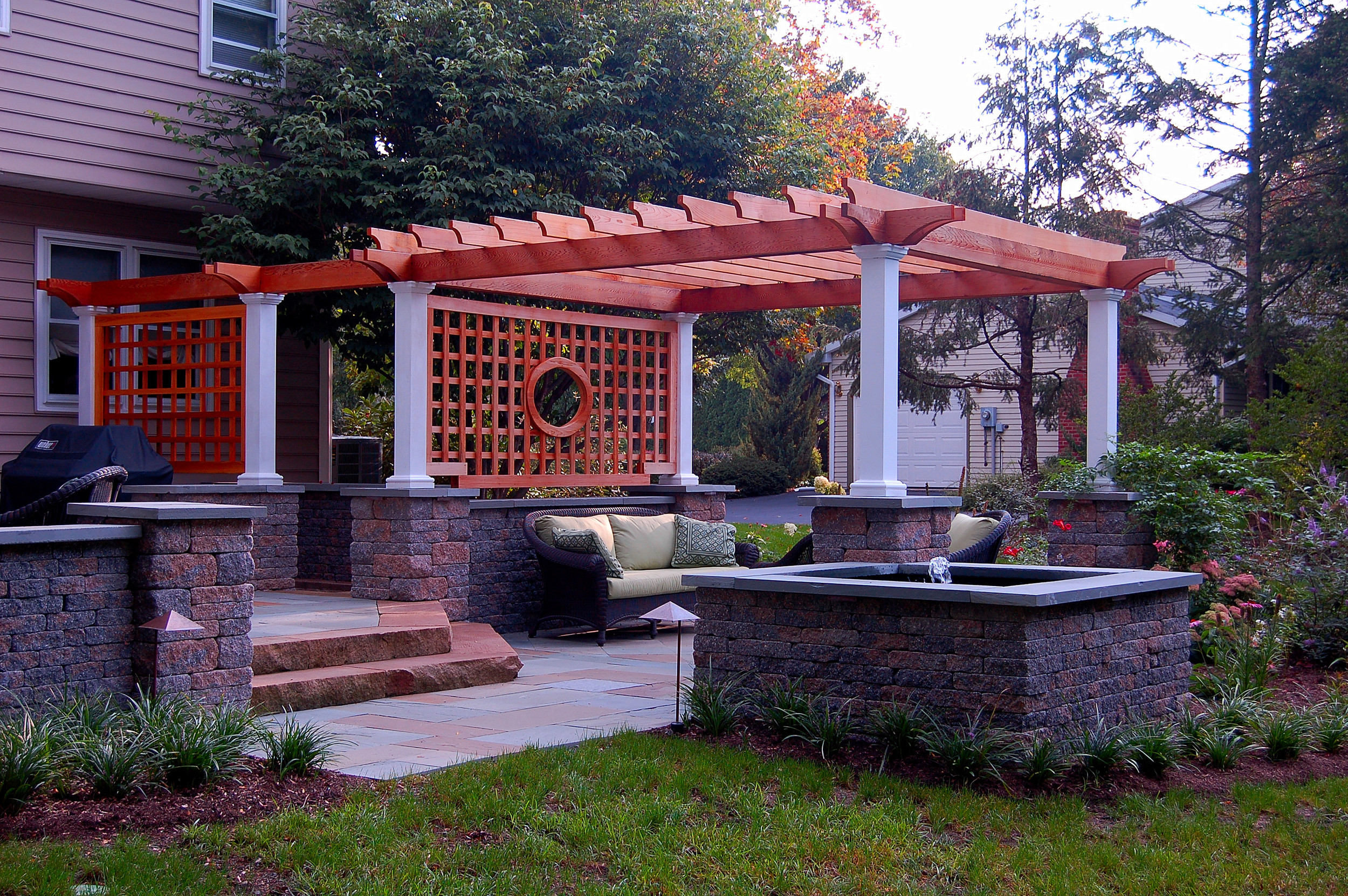Landscape design with water feature in Lititz, PA