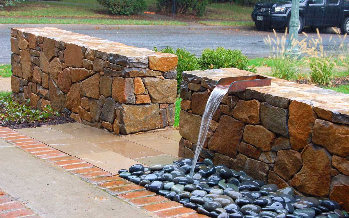 Contemporary water feature in Hershey, PA