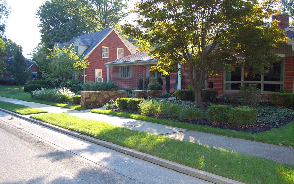 A new landscape for a ranch style home in PA
