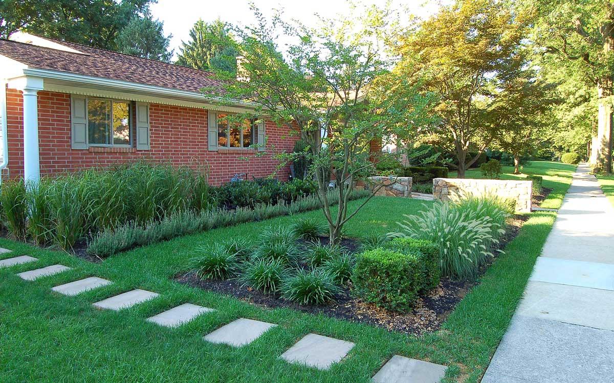 Bluestone path and garden design in PA