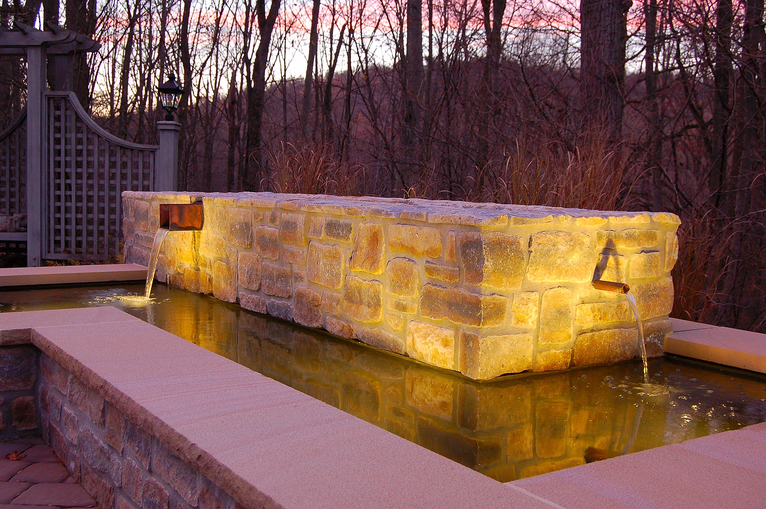 A Mount Gretna, PA stone water feature
